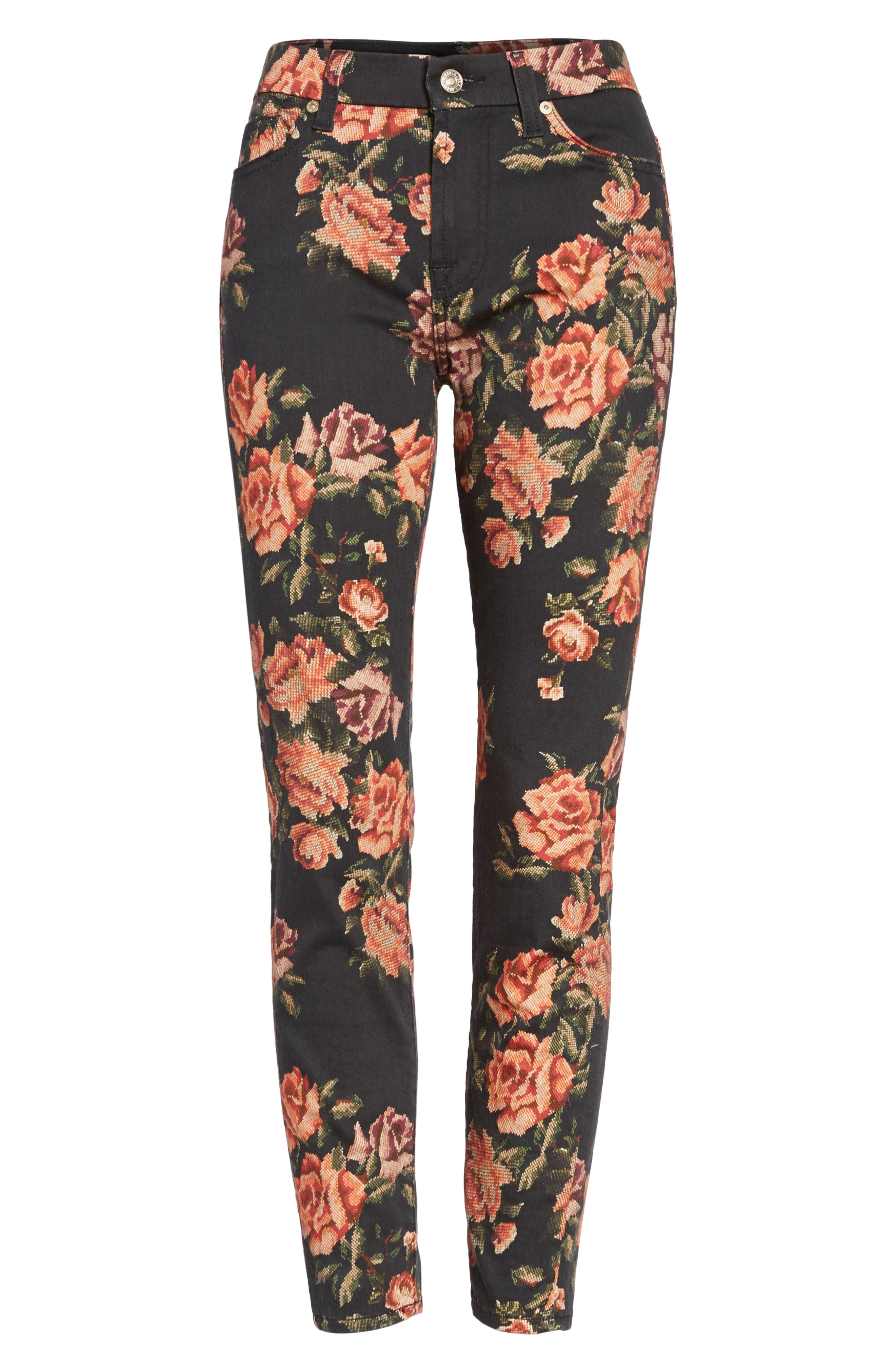 Alternate Image 6  - 7 For All Mankind® The Ankle Skinny Jeans (Needle Point Rose)