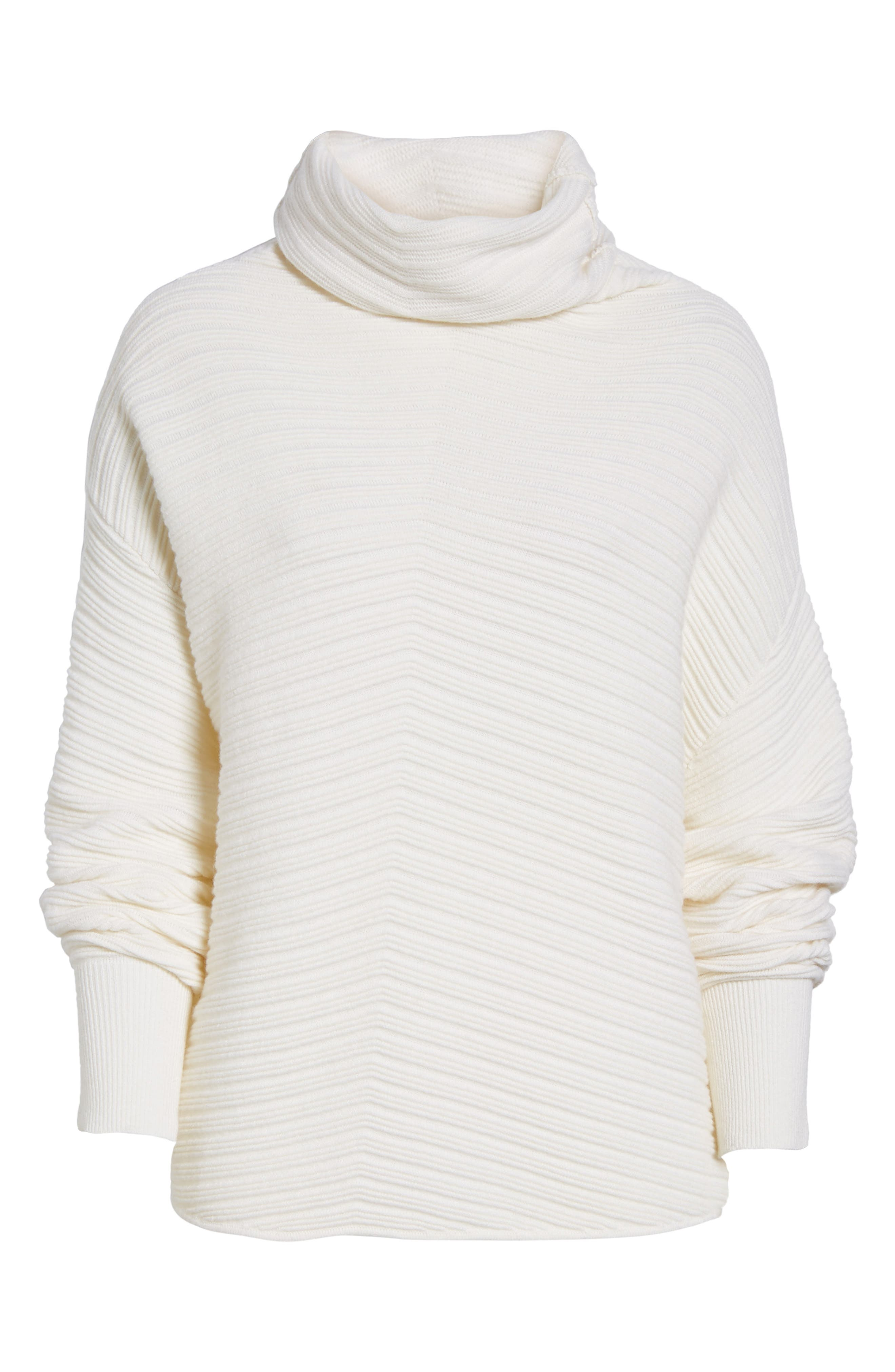 Alternate Image 6  - Nordstrom Signature Scrunch Neck Ottoman Knit Cashmere Sweater