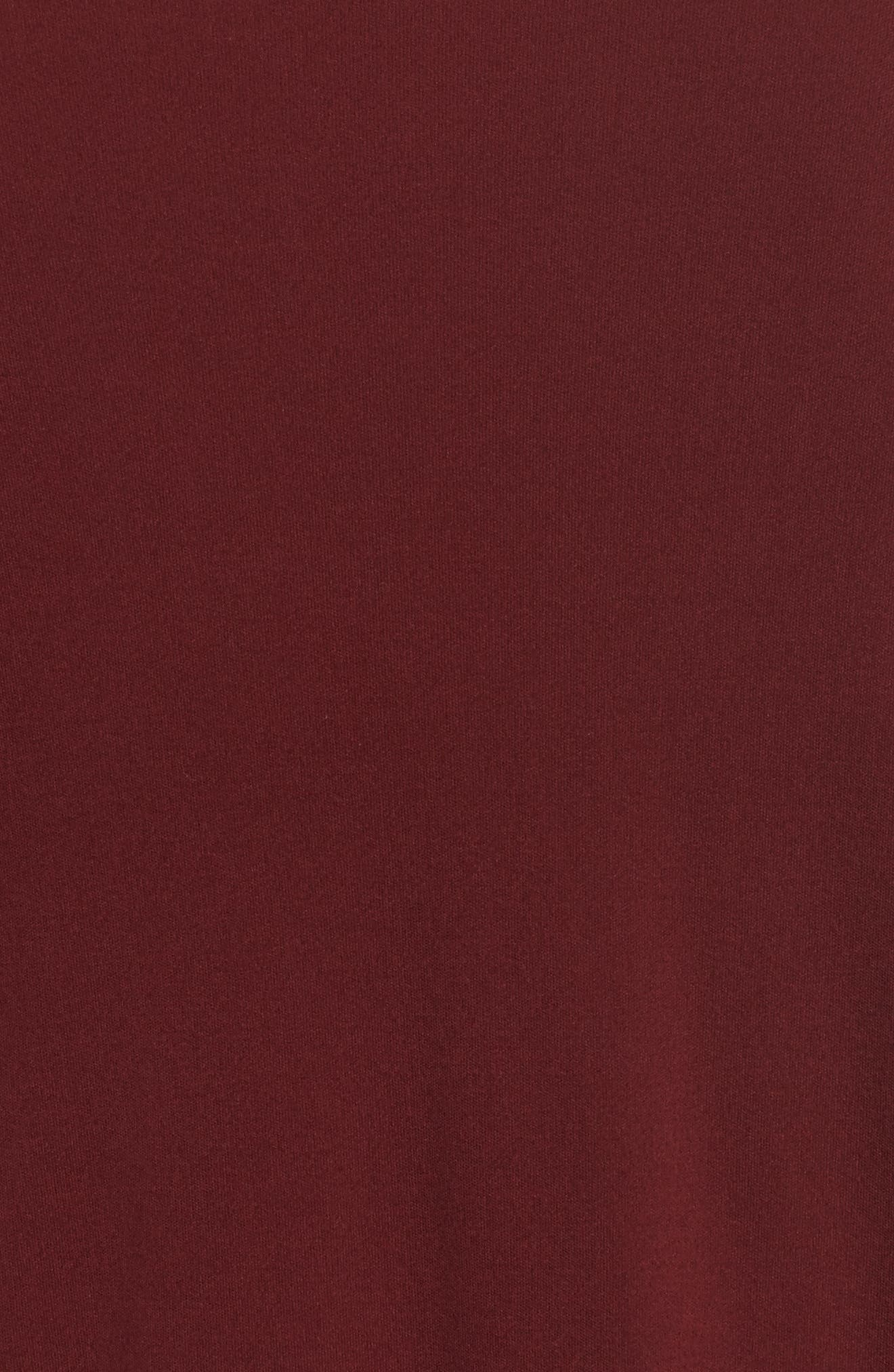 Sheer Hem Silk Tunic,                             Alternate thumbnail 5, color,                             Claret