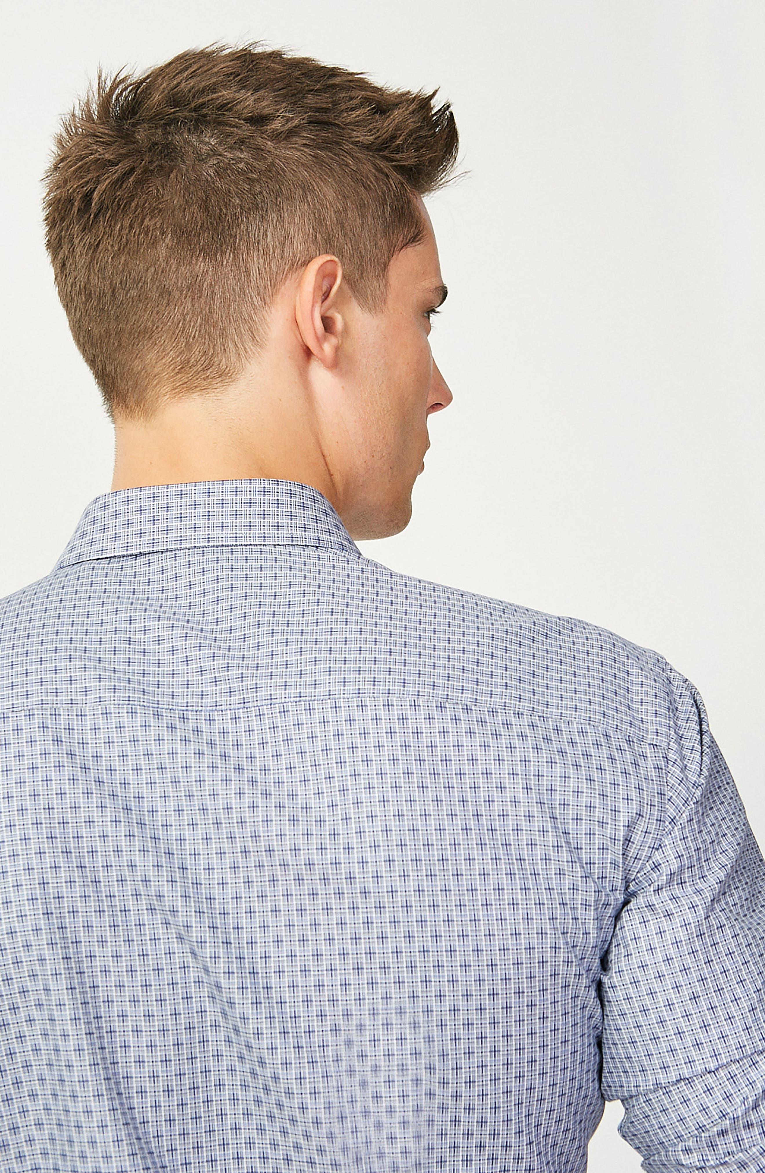 Alternate Image 7  - Bugatchi Classic Fit Print Sport Shirt