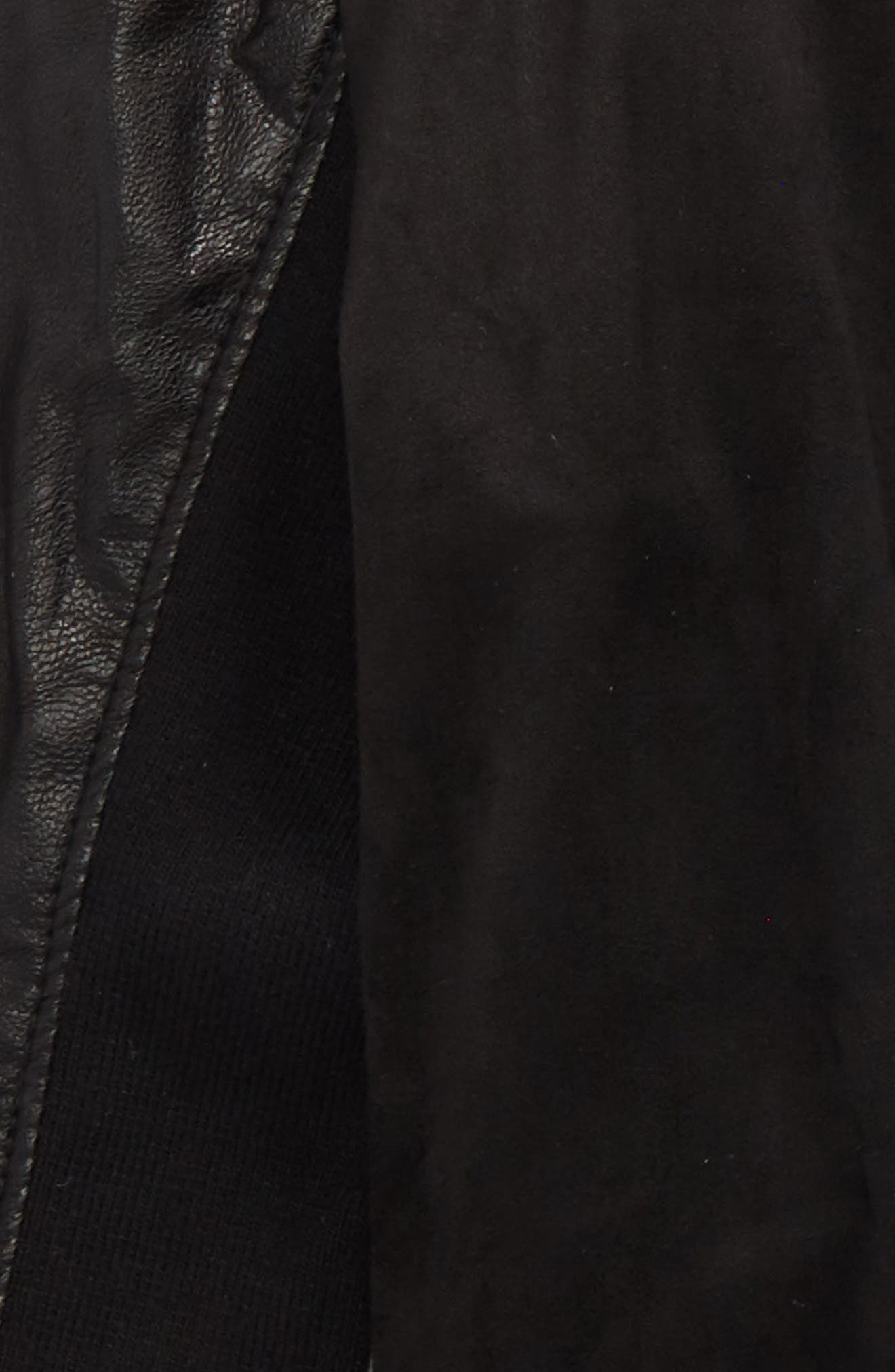 Asymmetrical Faux Leather Jacket,                             Alternate thumbnail 2, color,                             Black