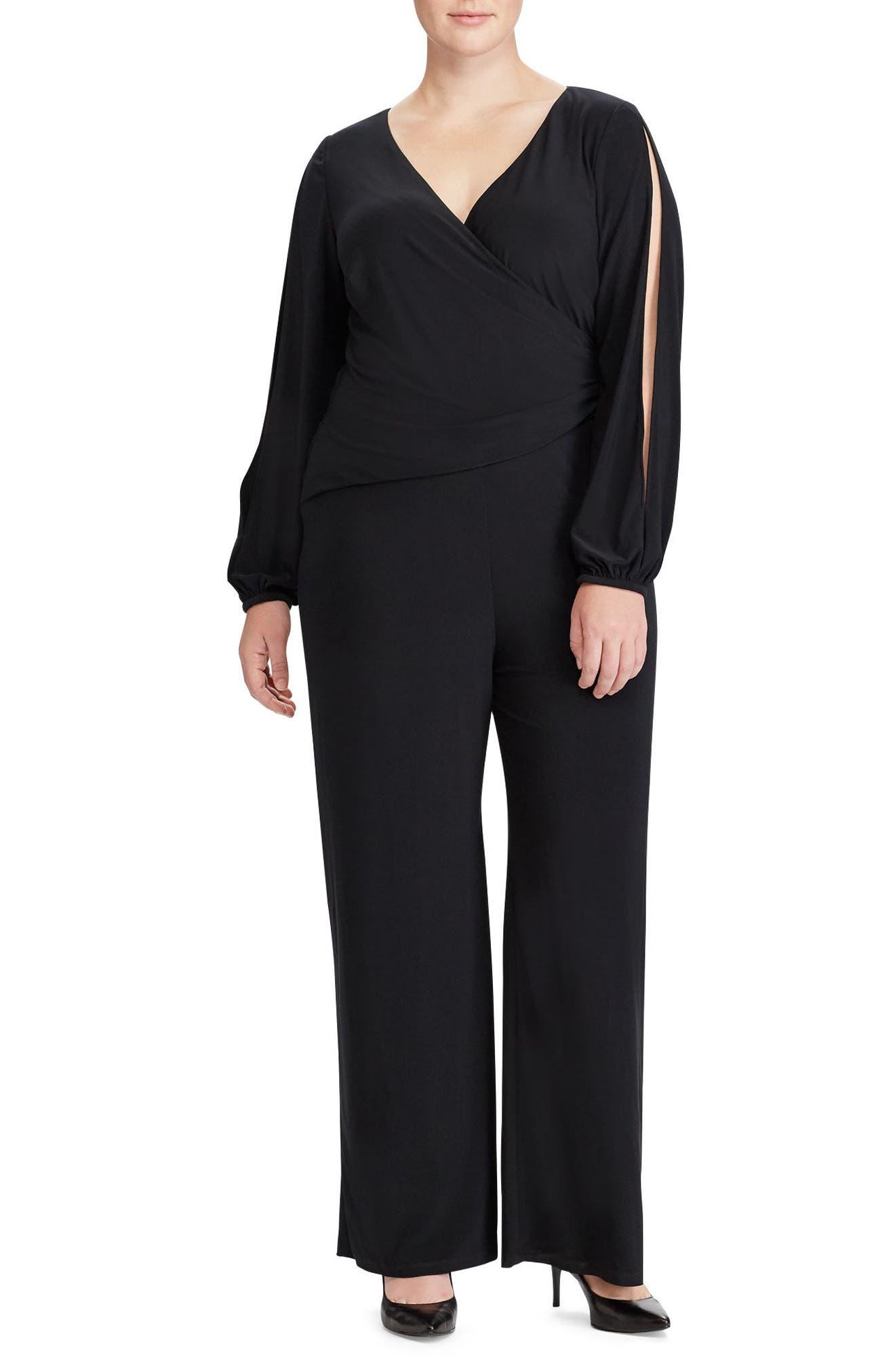 Alternate Image 1 Selected - Lauren Ralph Lauren Gustana Jumpsuit (Plus Size)
