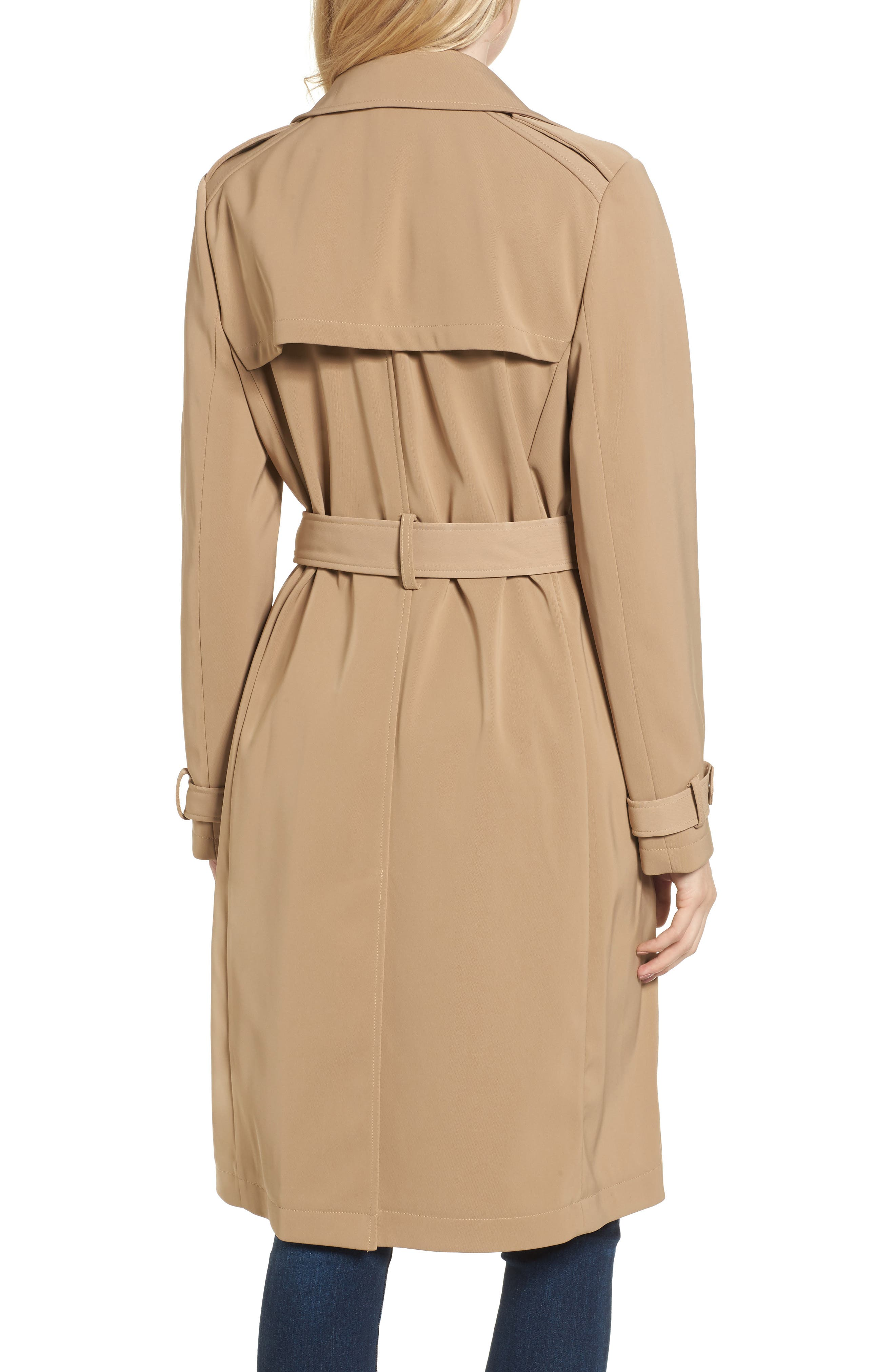 DKNY French Twill Water Resistant Trench Coat,                             Alternate thumbnail 2, color,                             Khaki