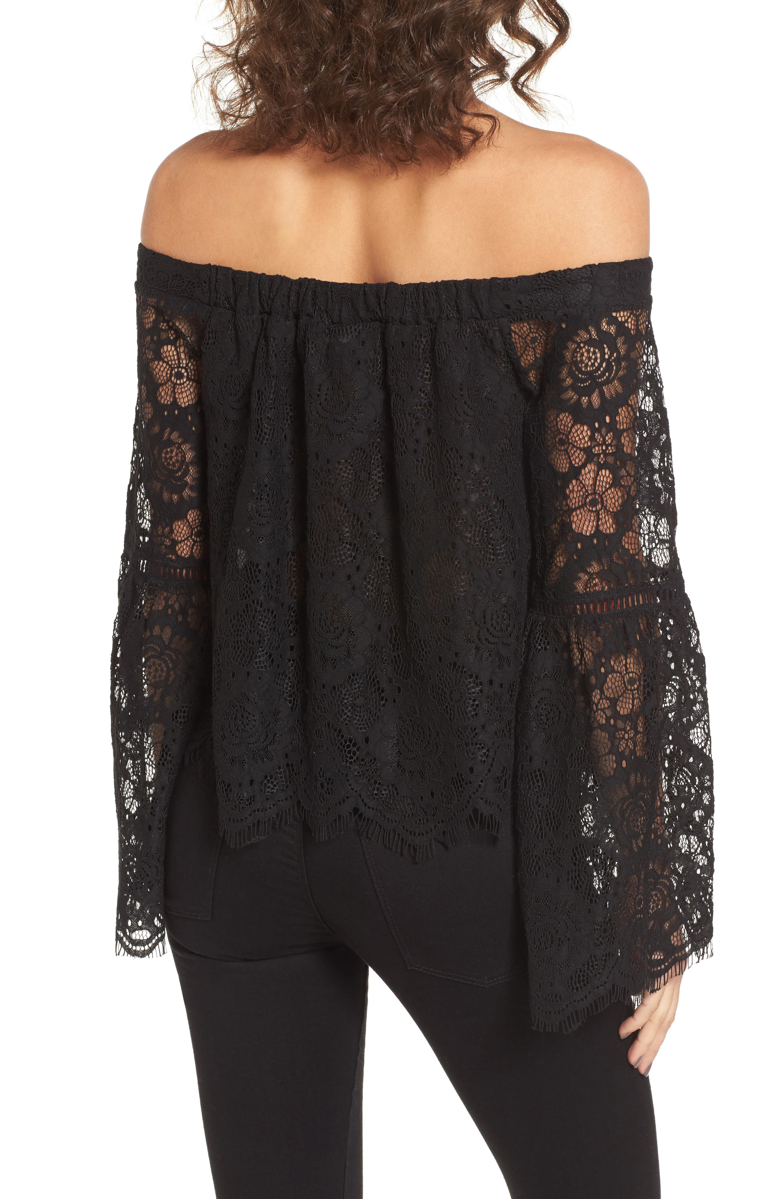 Alternate Image 3  - Lost + Wander Gabrielle Off the Shoulder Lace Top