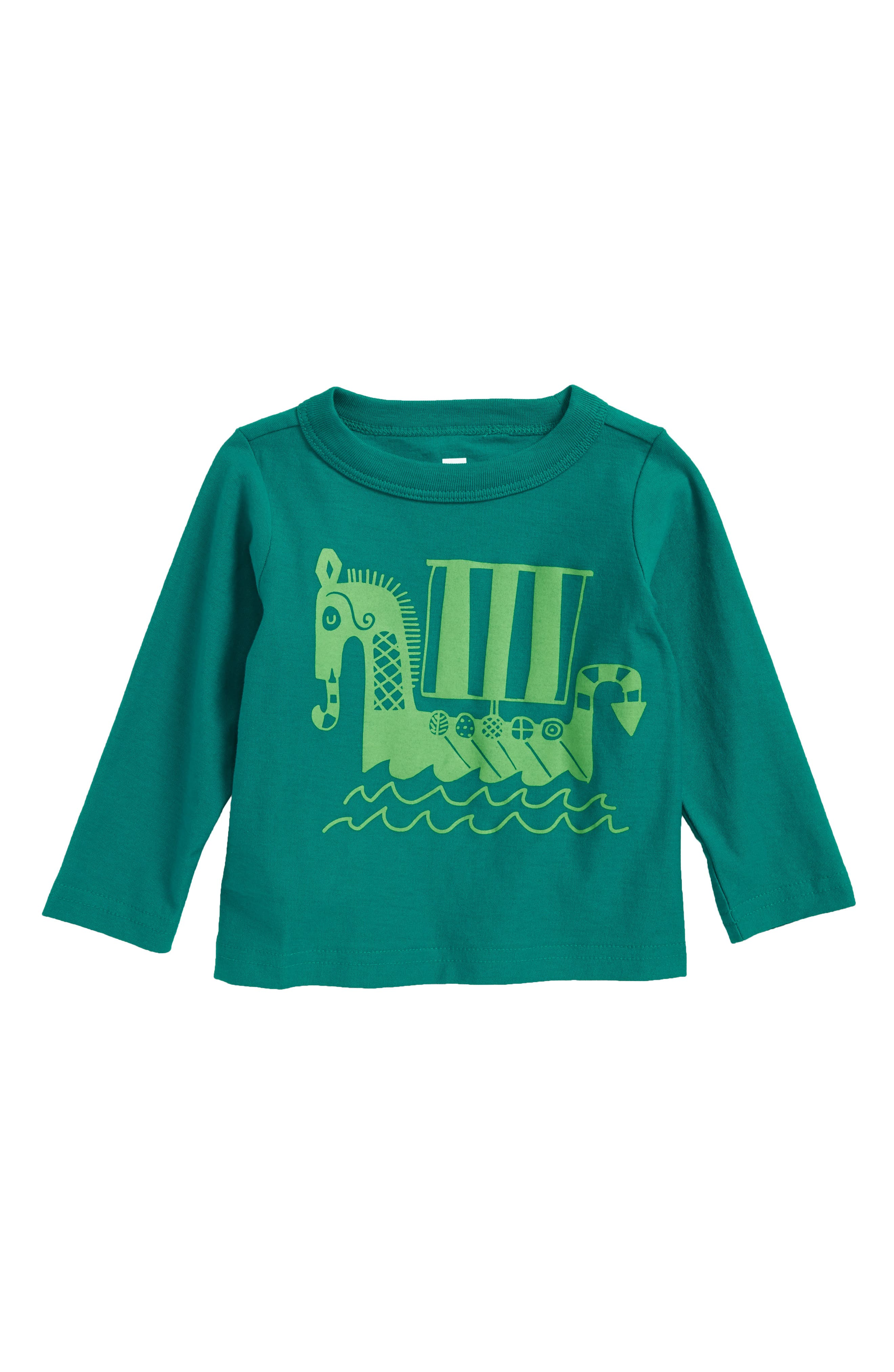 Up Helly Aa T-Shirt,                         Main,                         color, Jewel Green