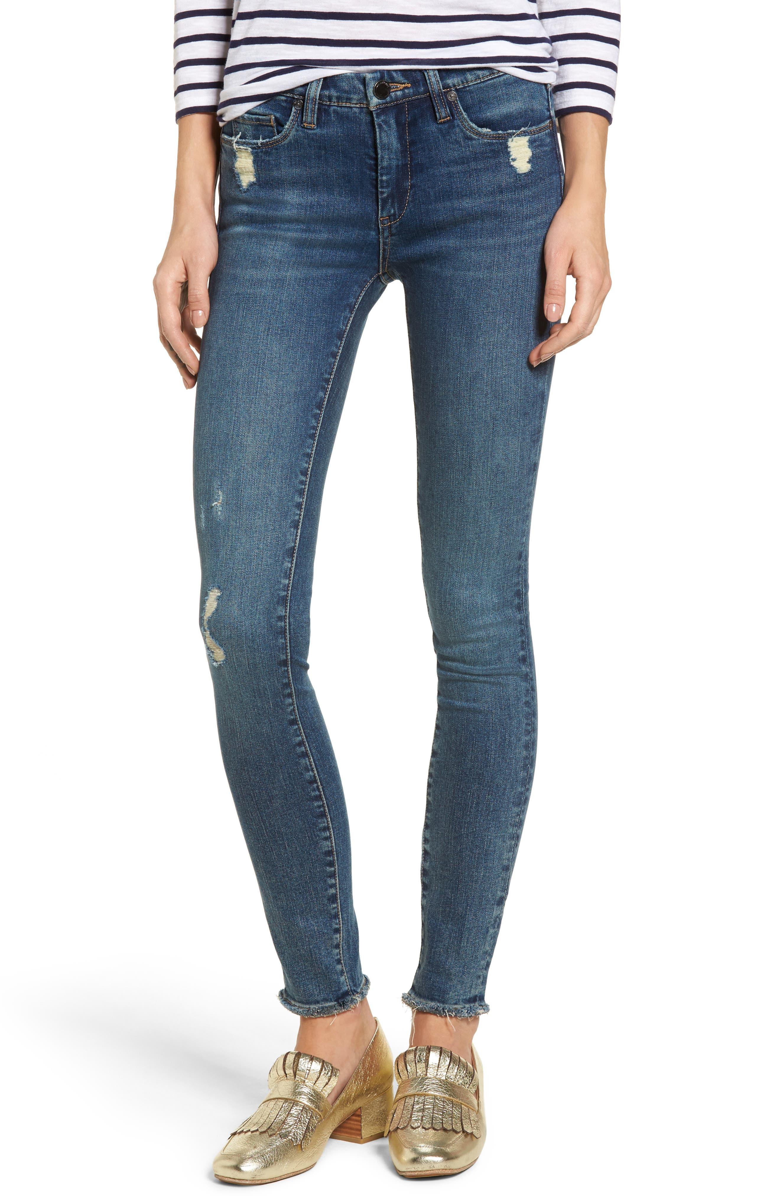 BLANKNYC Mind Games Distressed Skinny Jeans