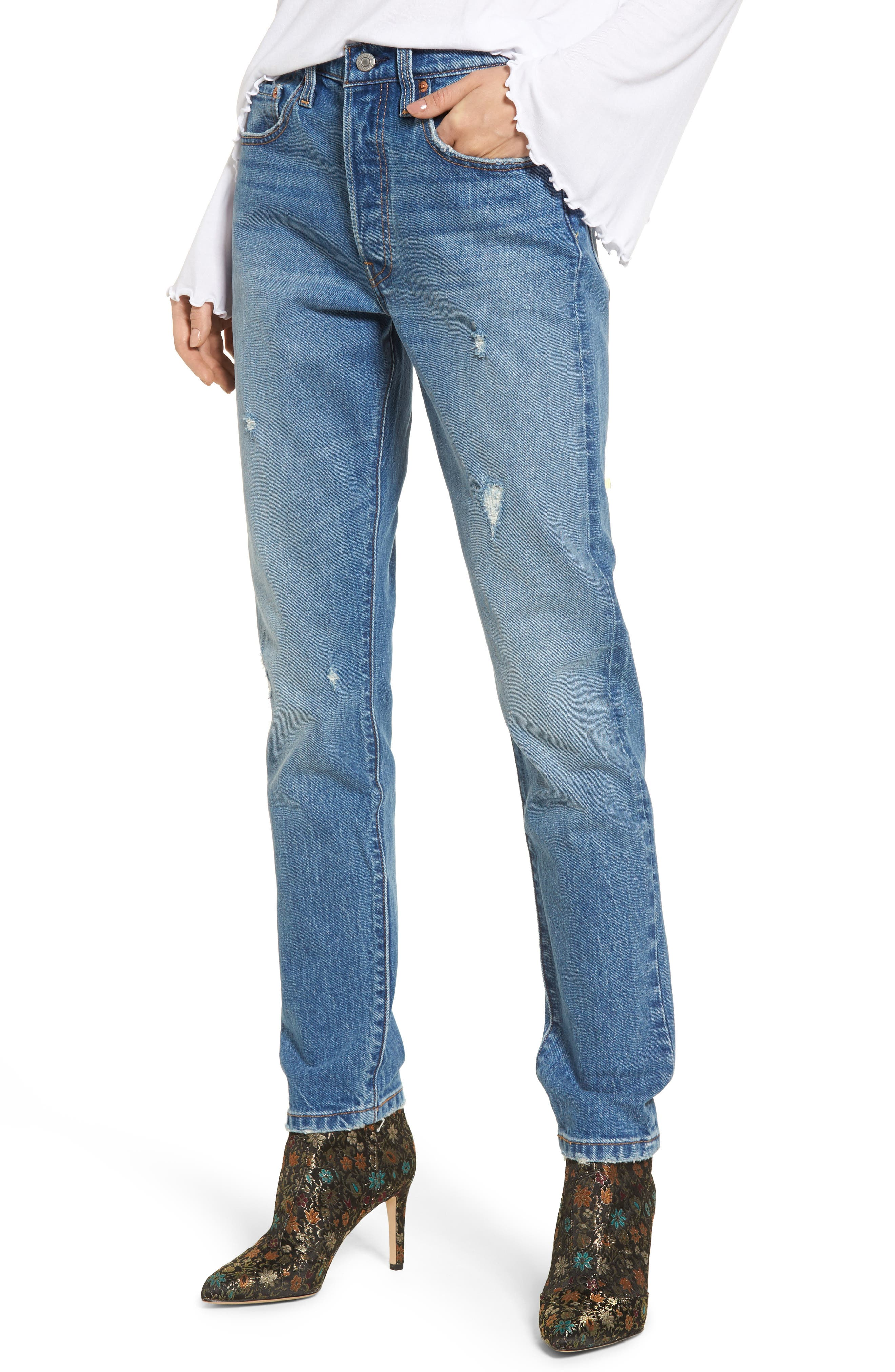 Levi's® 501 High Waist Skinny Jeans (Leave a Trace)