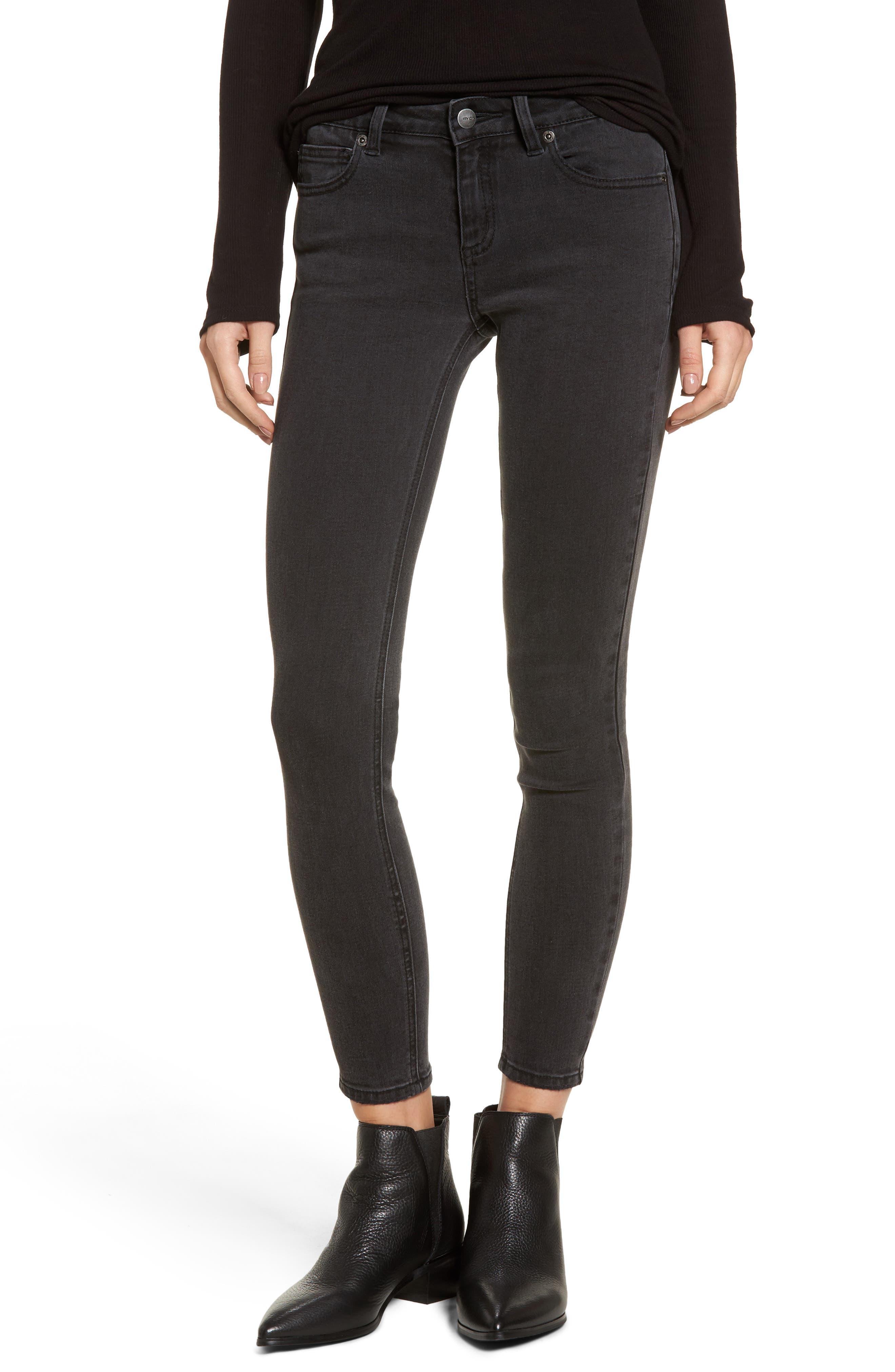RVCA Hi Roader High Waist Skinny Jeans