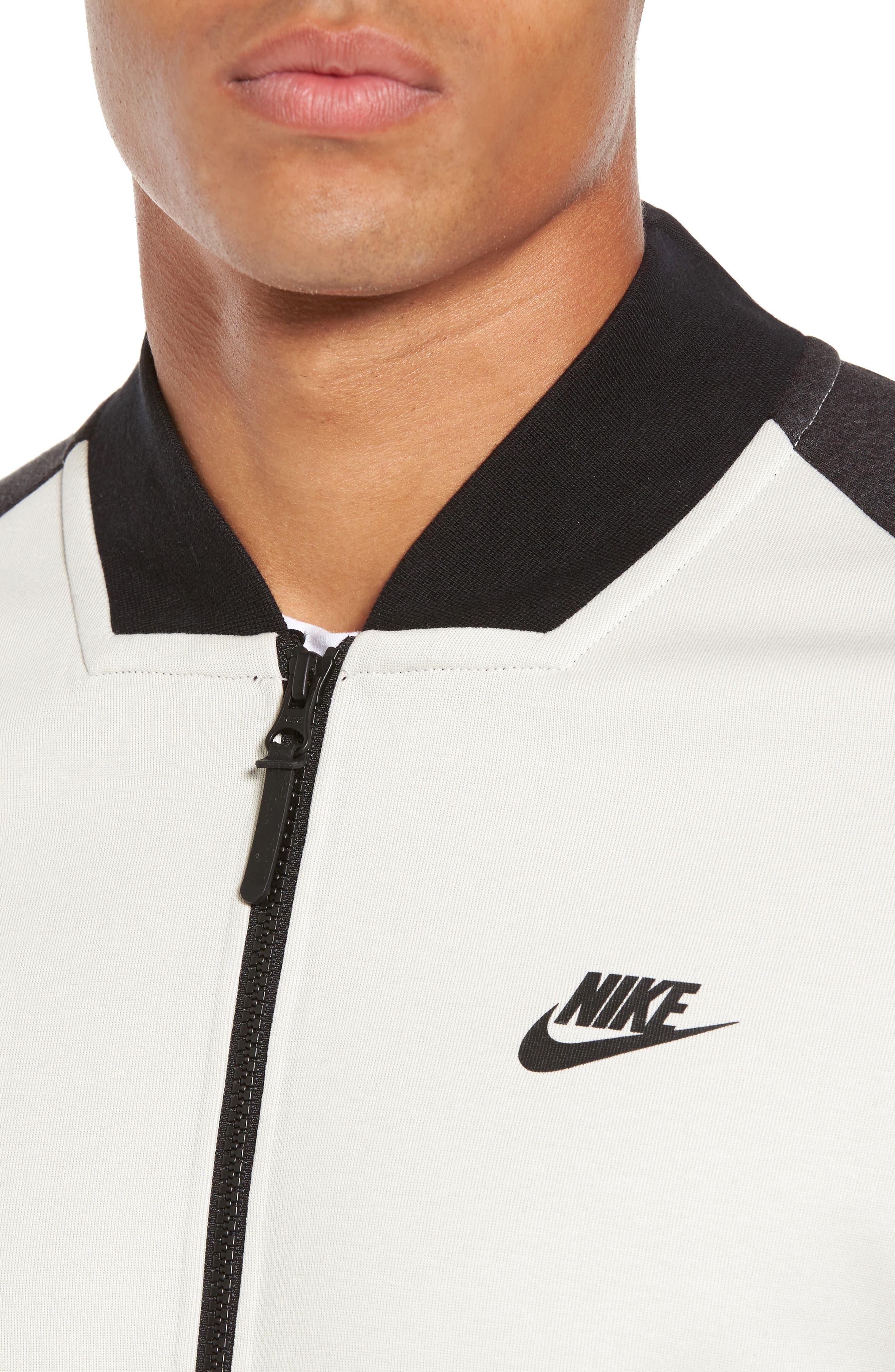 Alternate Image 4  - Nike Tech Fleece Varsity Jacket