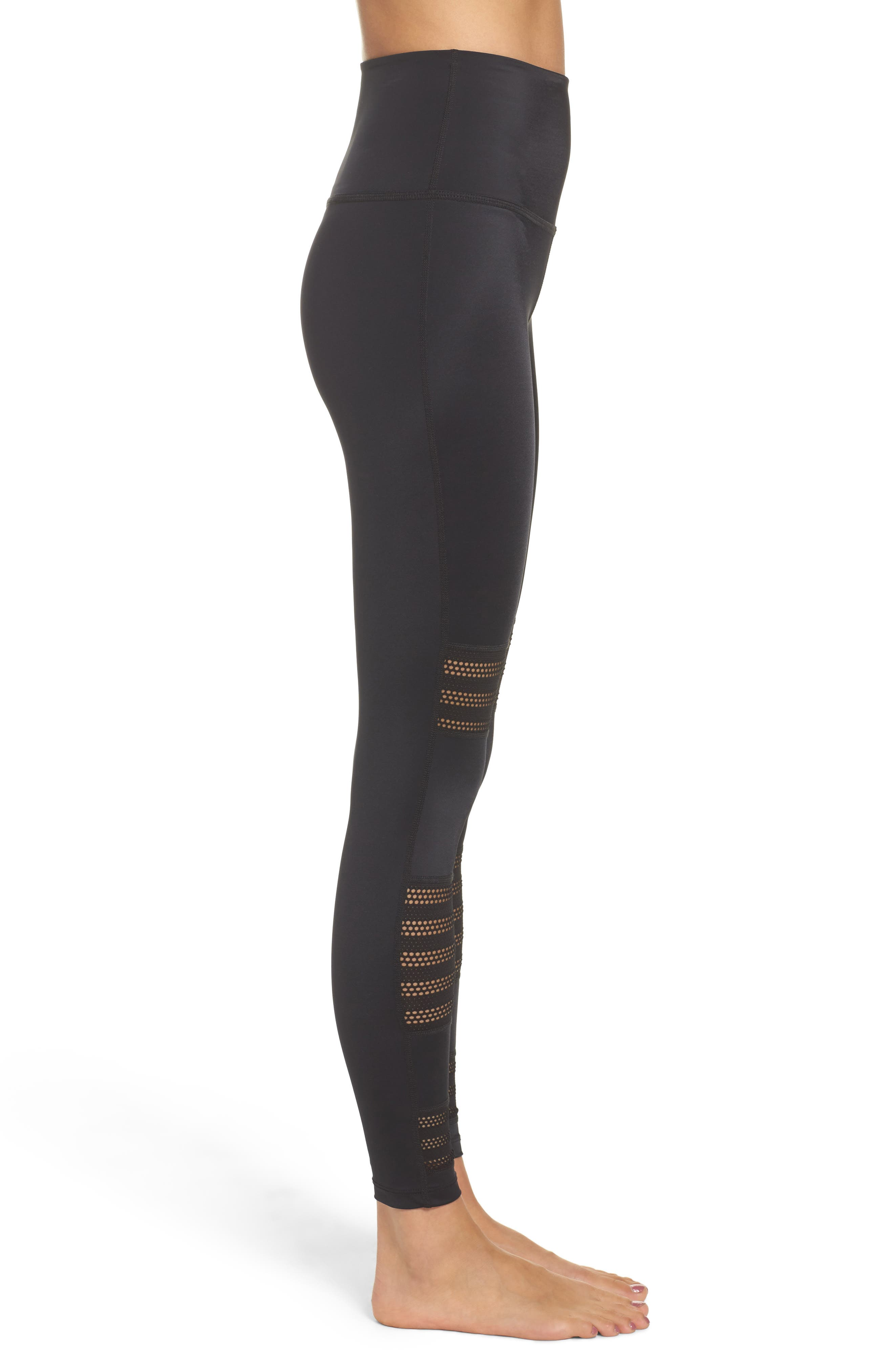 Alternate Image 3  - Beyond Yoga Mesh to Impress High Waist Leggings