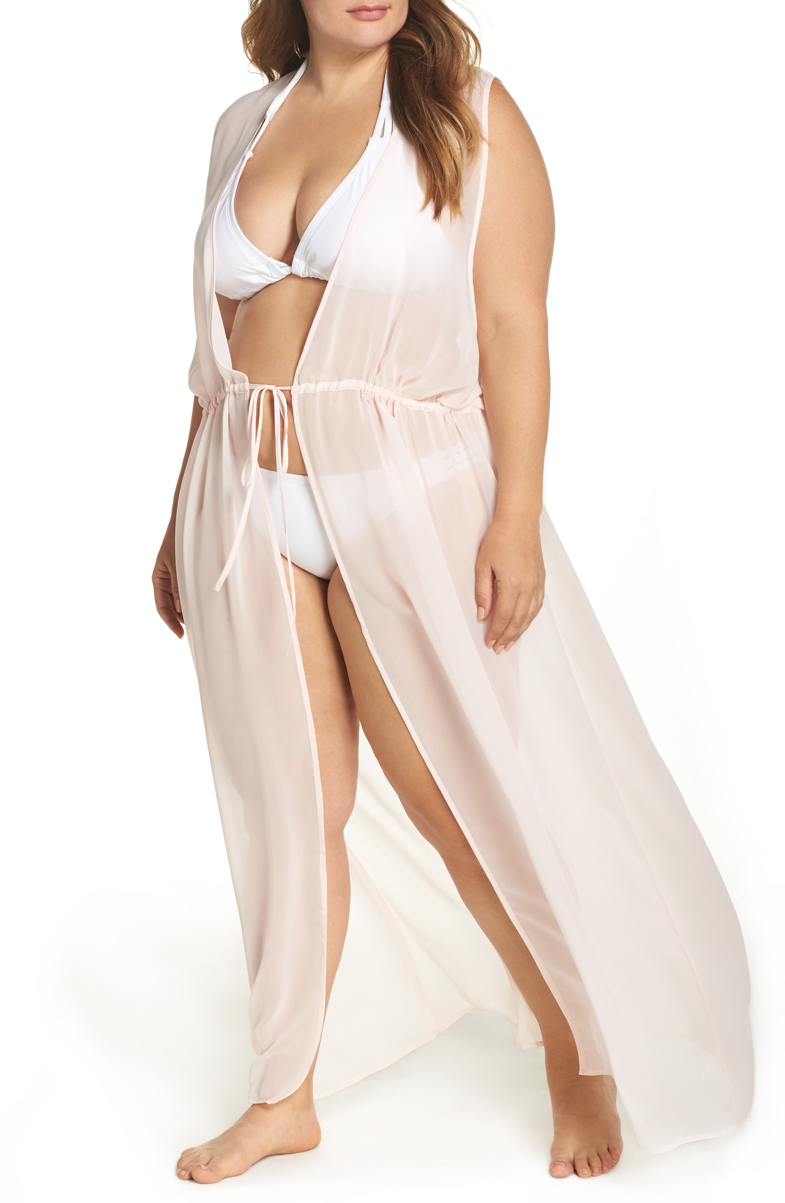 Leith Sheer Cover-Up Maxi (Plus Size)