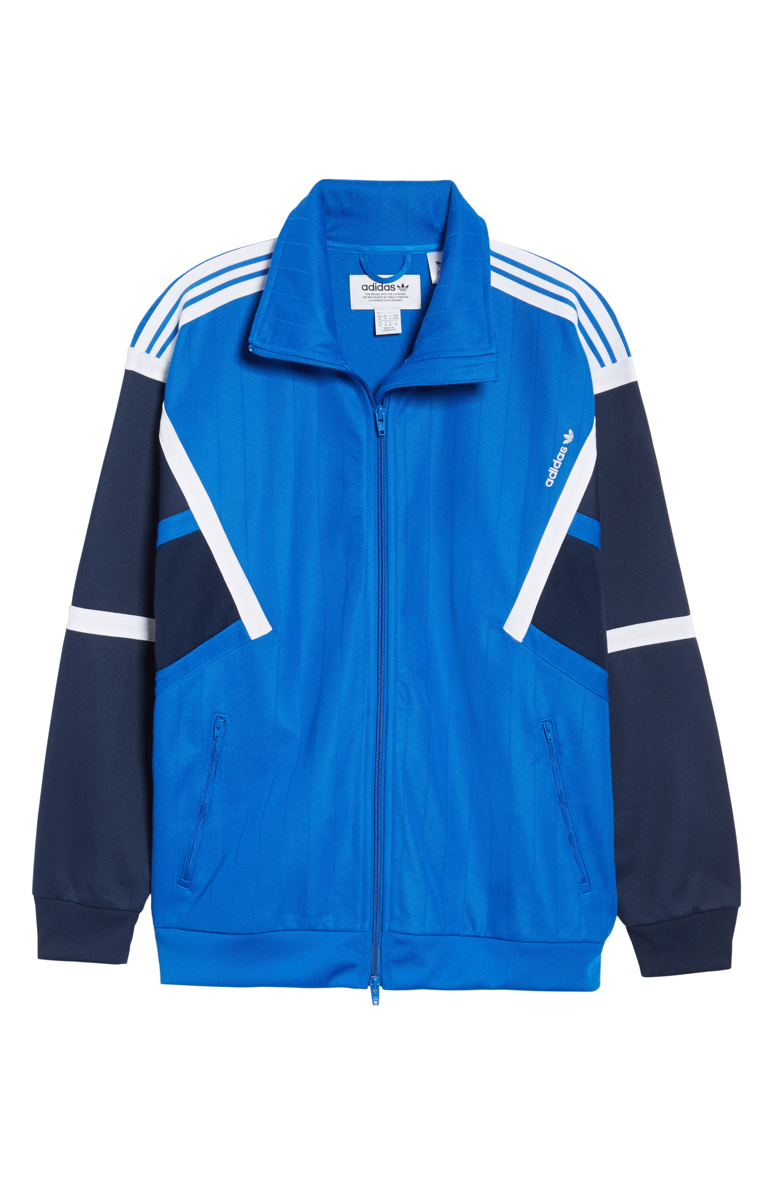 Water Resistant Training Track Jacket,                             Alternate thumbnail 6, color,                             Blue