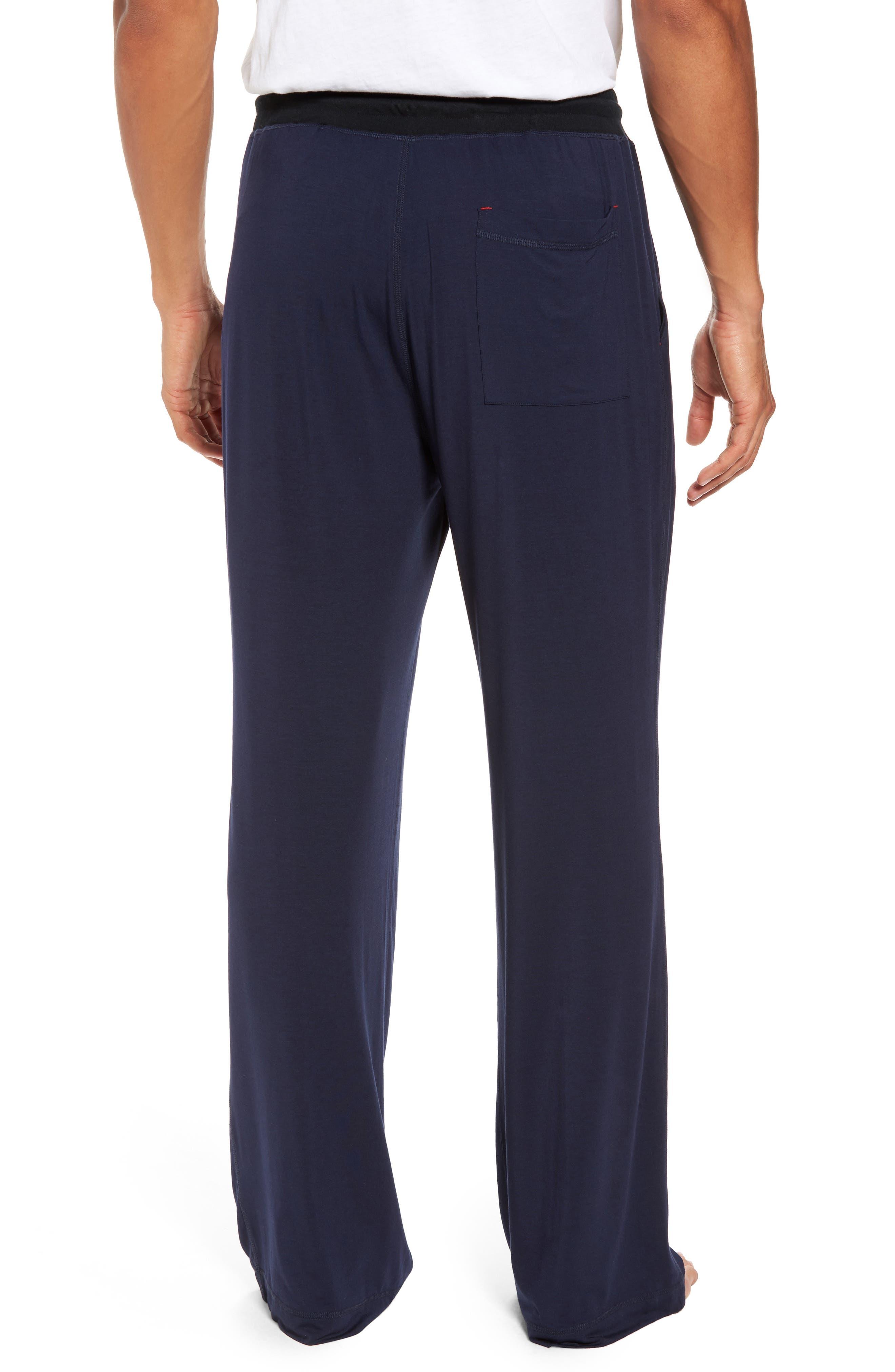 Modal & Silk Lounge Pants,                             Alternate thumbnail 2, color,                             Ink