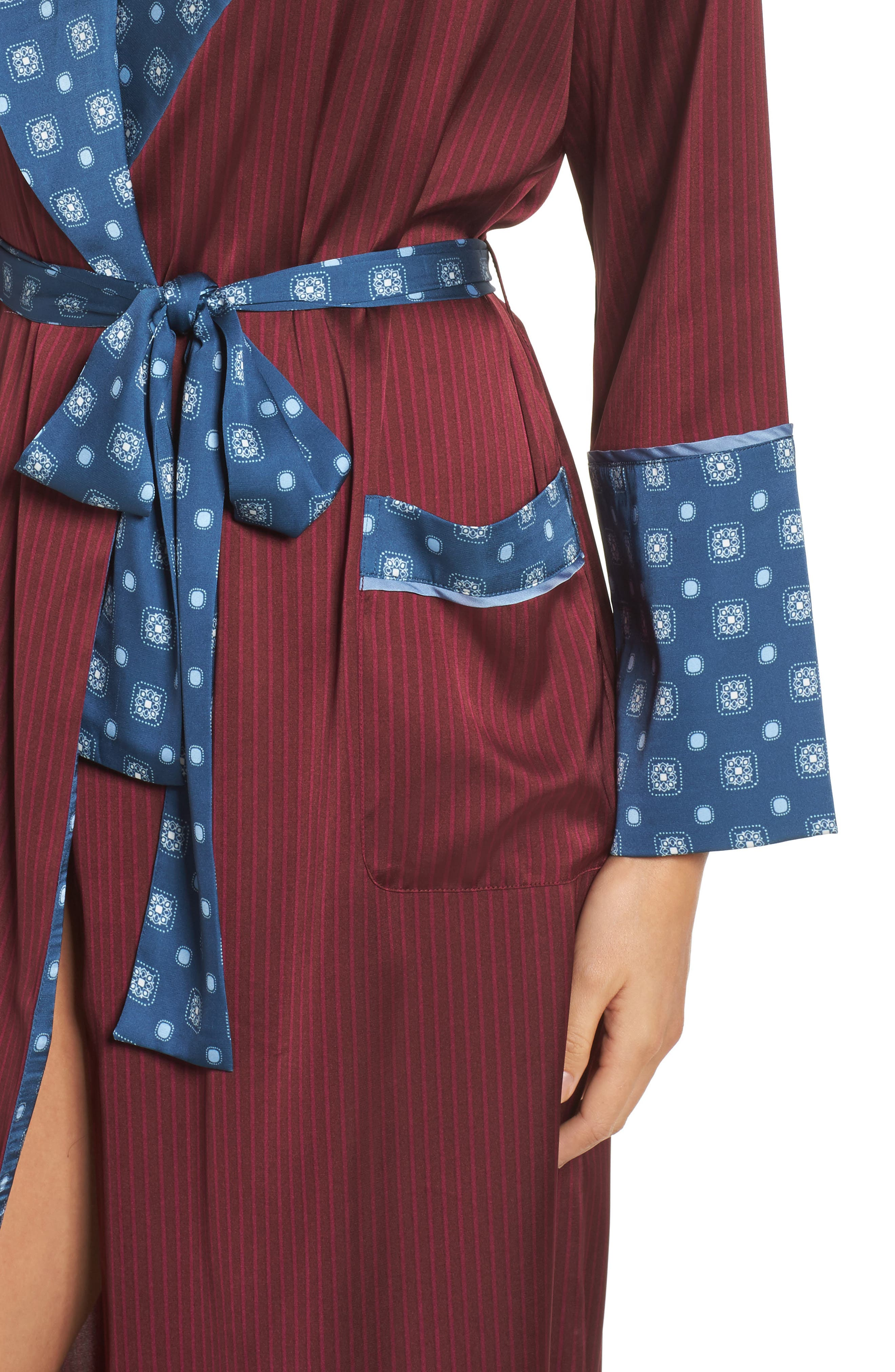 Alternate Image 4  - Bed to Brunch Mixed Print Robe