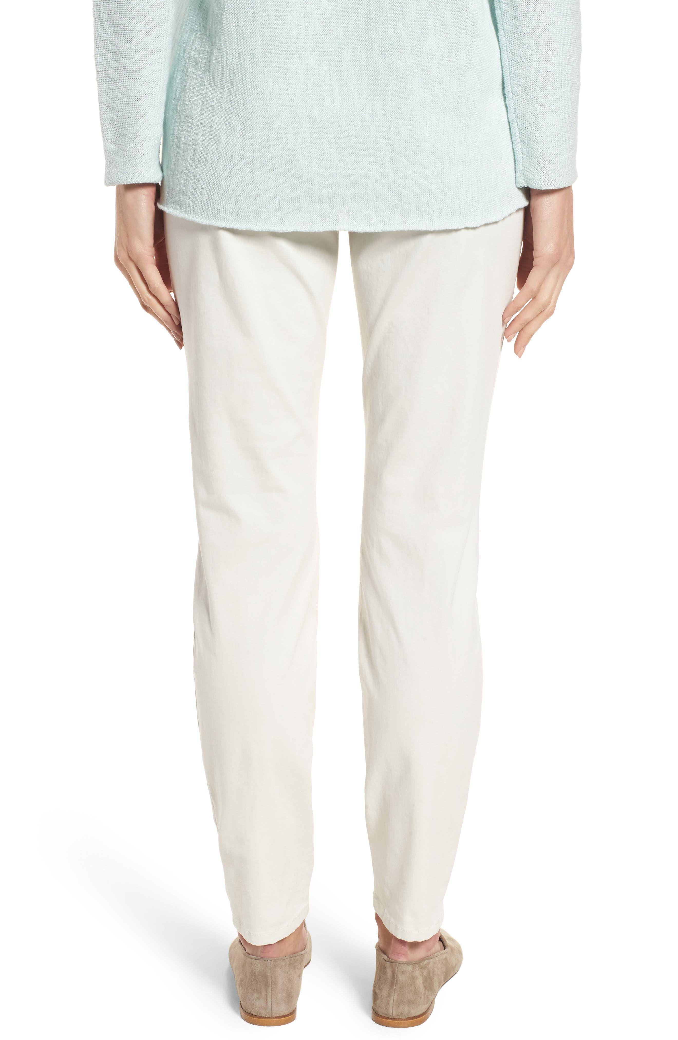 Stretch Organic Cotton Denim Skinny Pants,                             Alternate thumbnail 2, color,                             Bone