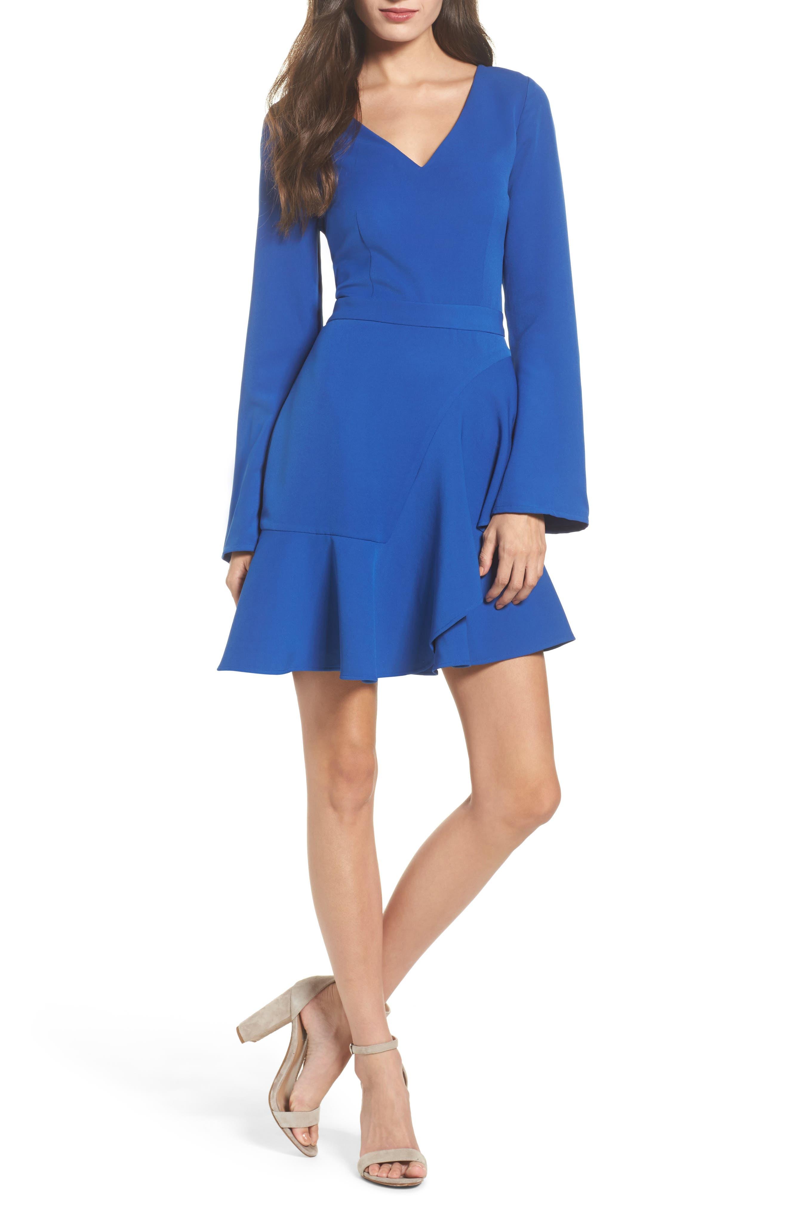 Twilight Tear Minidress,                         Main,                         color, Catalina Blue