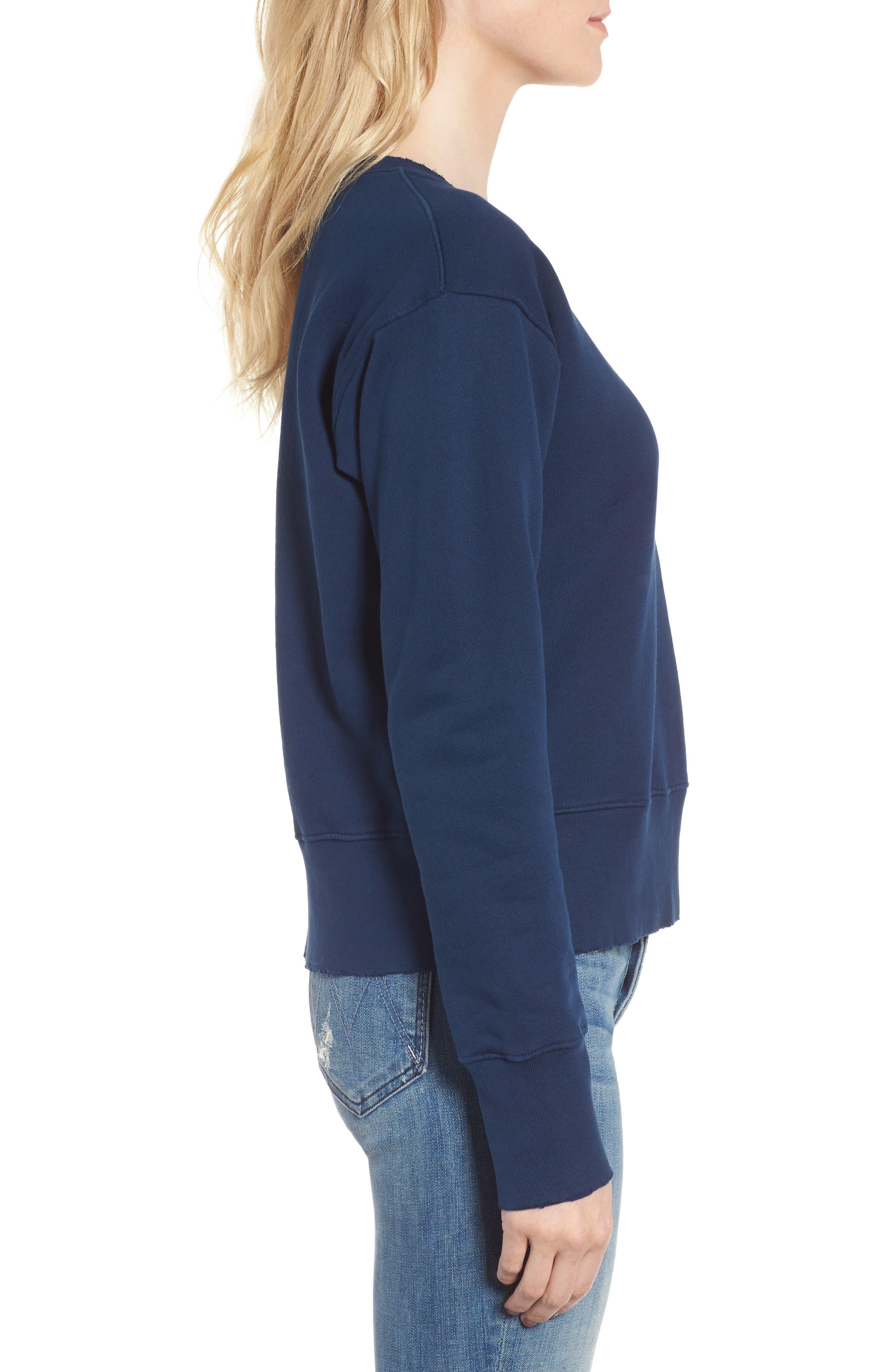 Distressed Sweatshirt,                             Alternate thumbnail 3, color,                             Blazer