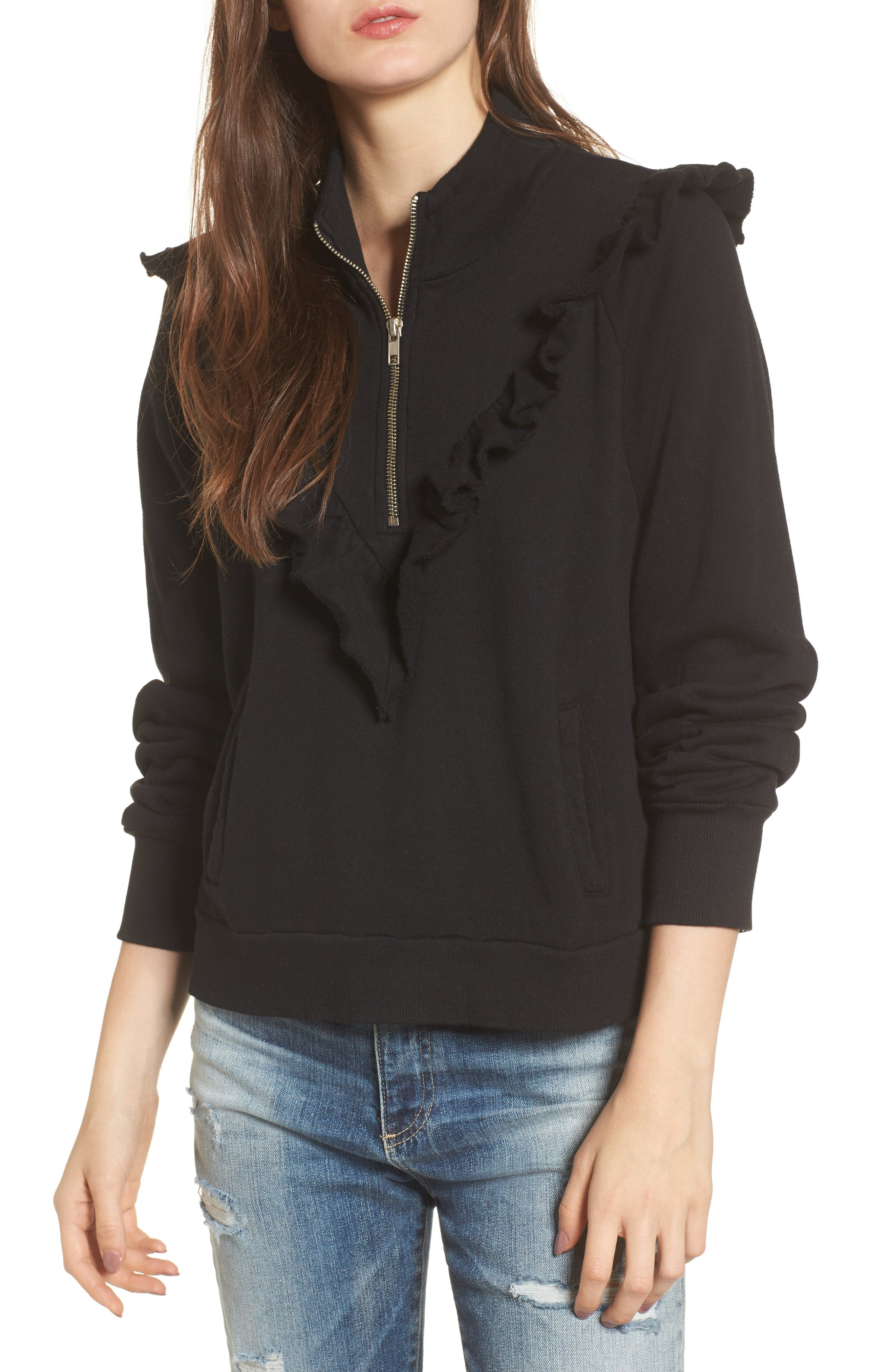 Main Image - Wildfox Prima Ruffle Warm-Up Pullover