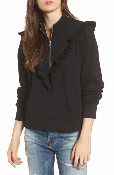 Wildfox Prima Ruffle Warm-Up Pullover