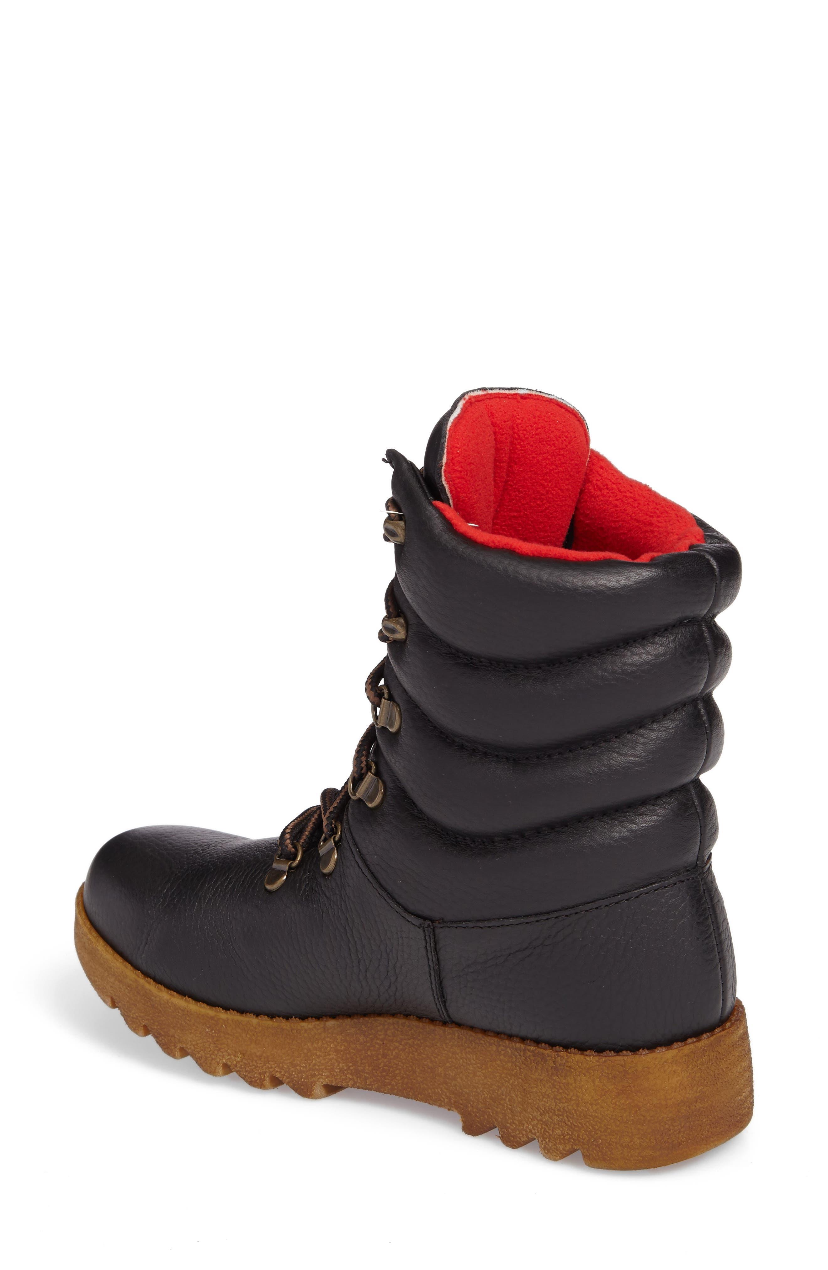 Original Pillow Waterproof Boot,                             Alternate thumbnail 2, color,                             Black Leather