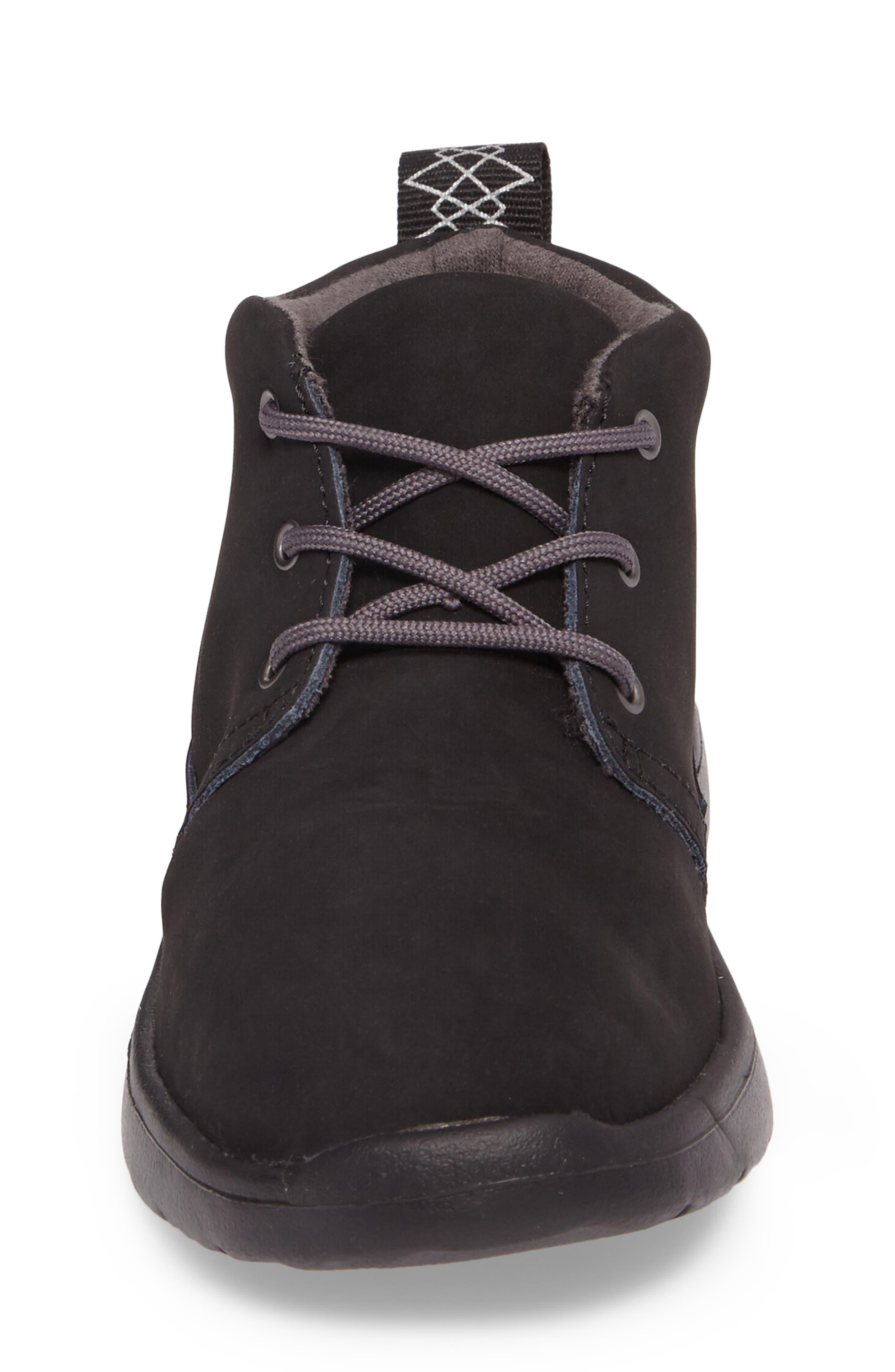 Canoe Water Resistant Chukka Sneaker,                             Alternate thumbnail 4, color,                             Black