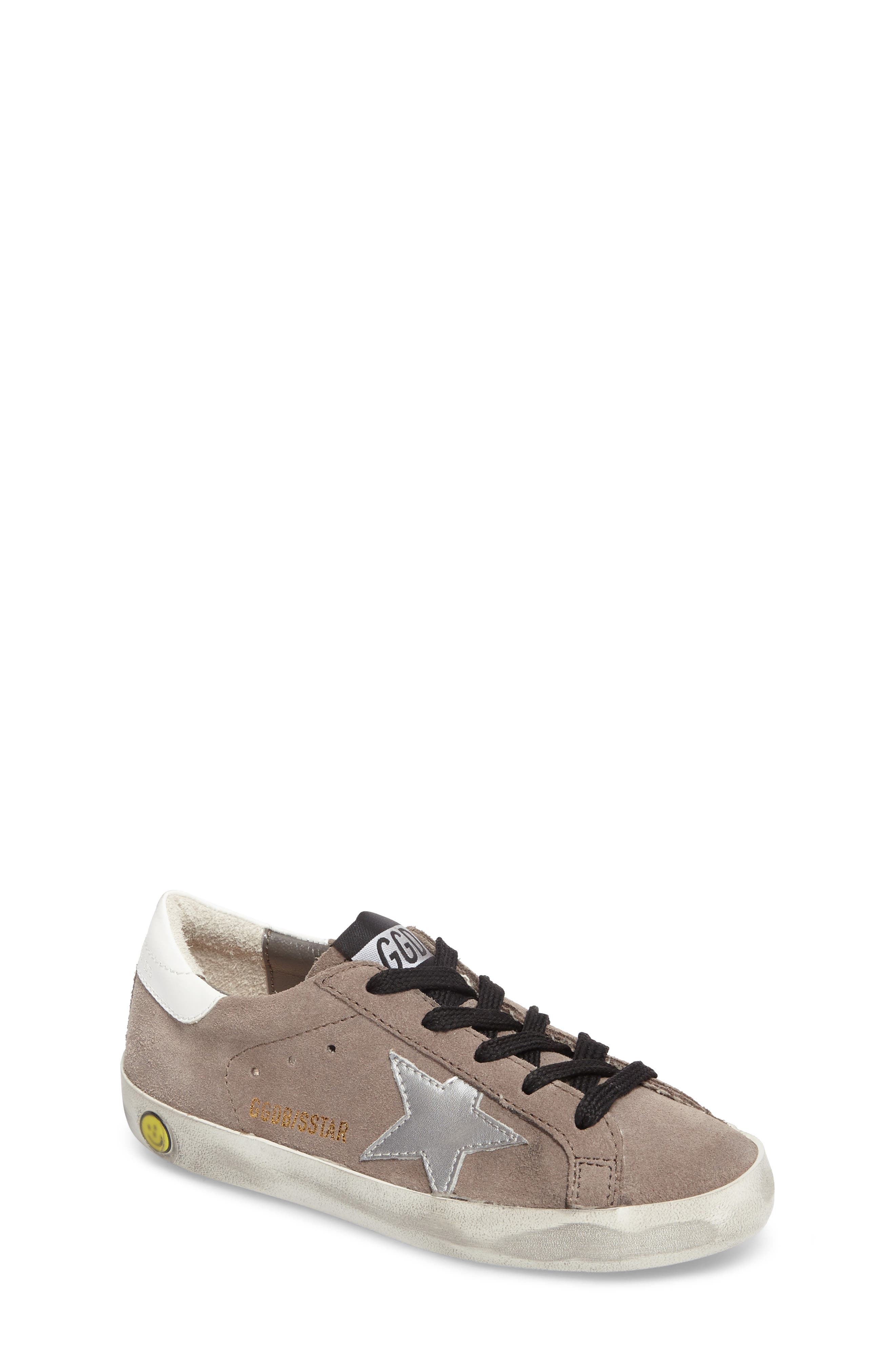 Superstar Low Top Sneaker,                             Main thumbnail 1, color,                             Mid Grey Suede