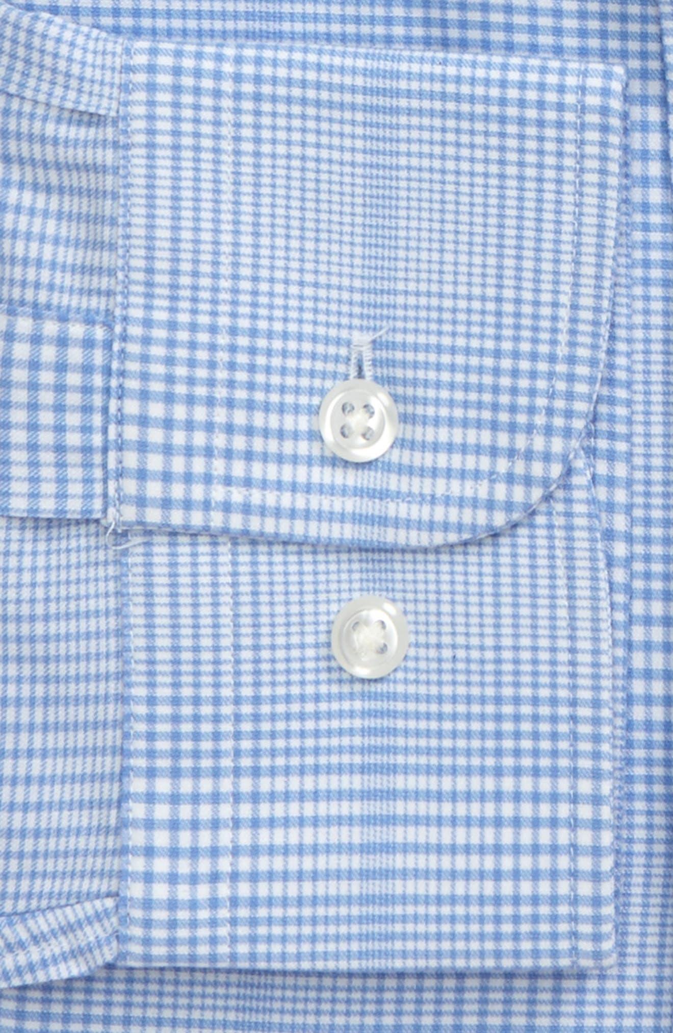 Tech-Smart Traditional Fit Stretch Plaid Dress Shirt,                             Alternate thumbnail 3, color,                             Blue Hydrangea