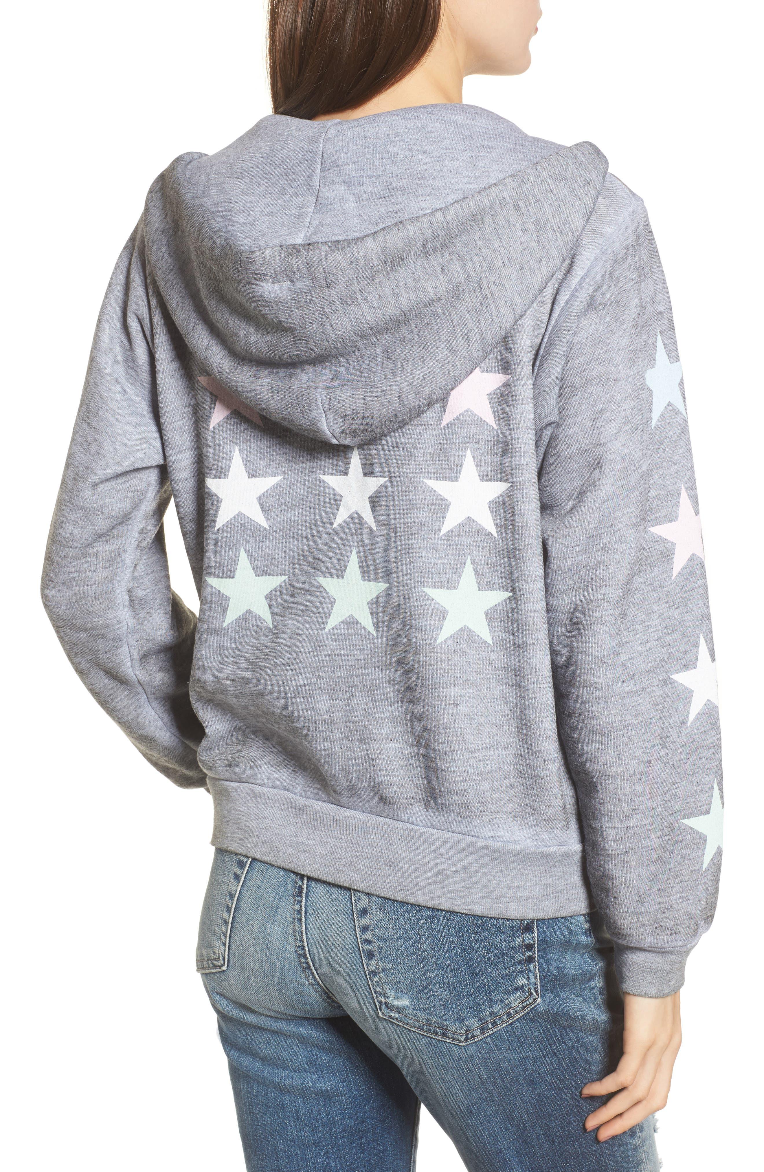 Alternate Image 2  - Wildfox Starlight Regan Zip Hoodie