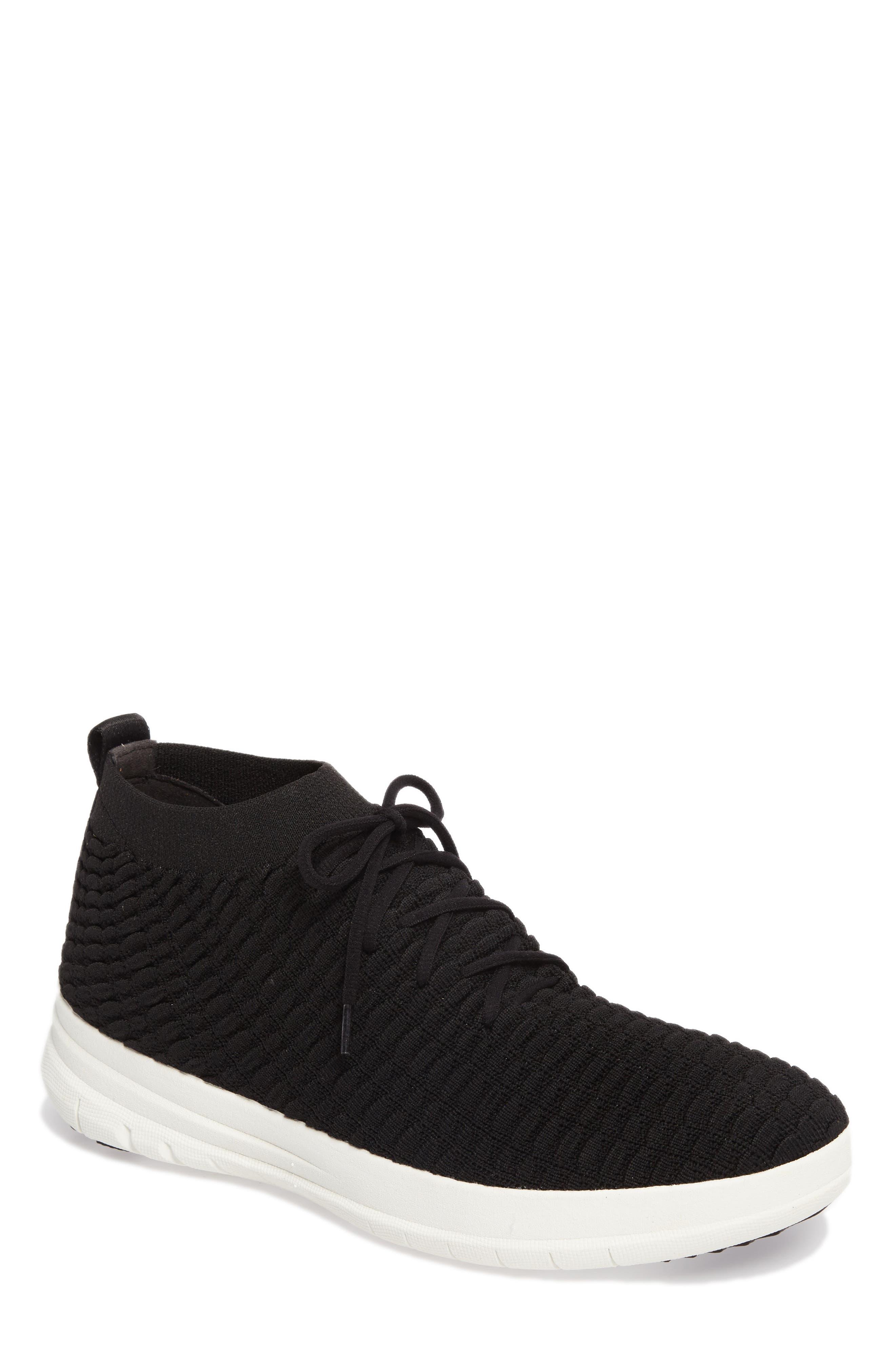Uberknit Sneaker,                             Main thumbnail 1, color,                             Black Textile