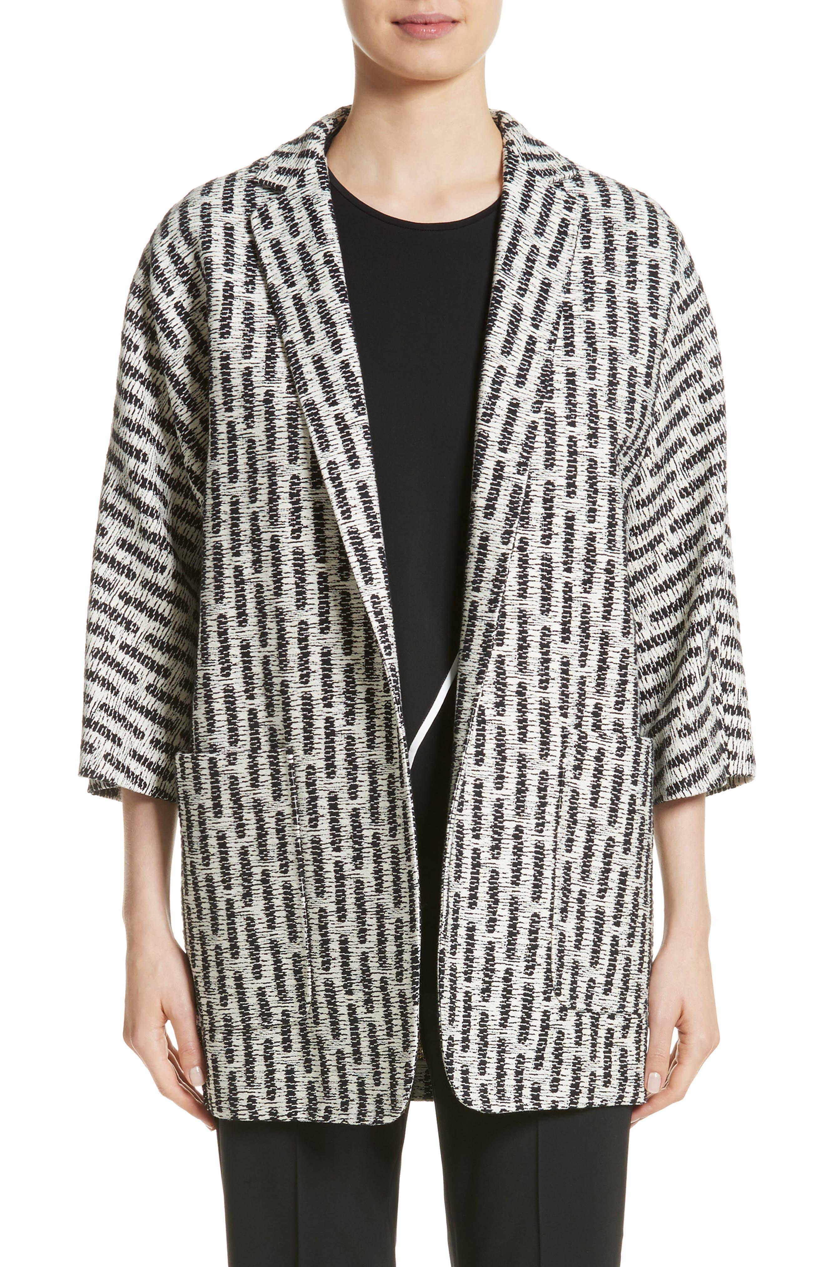 Ottone Jacquard Jacket,                         Main,                         color, Silk
