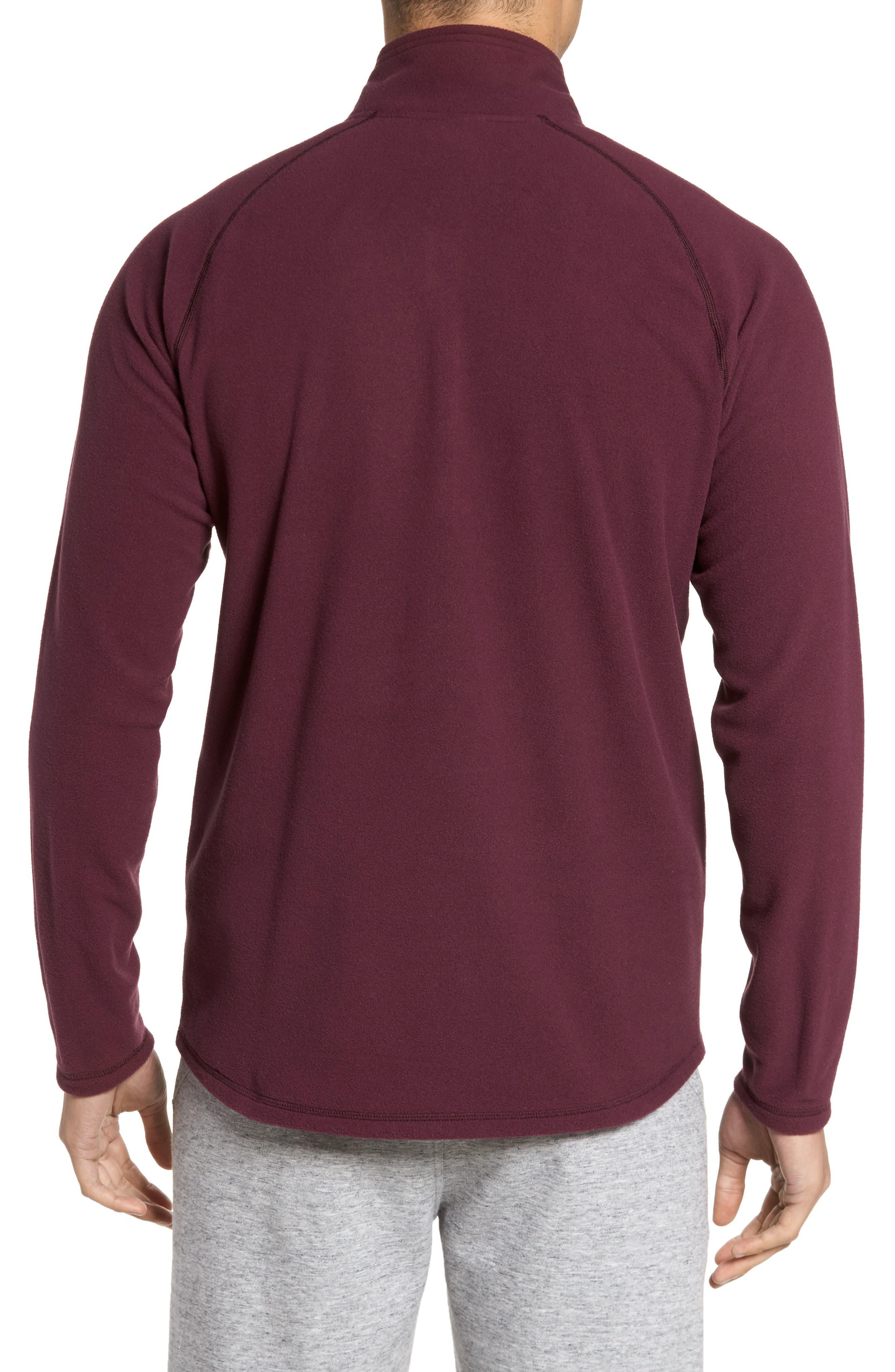Alternate Image 2  - Zella Quarter Zip Fleece Pullover