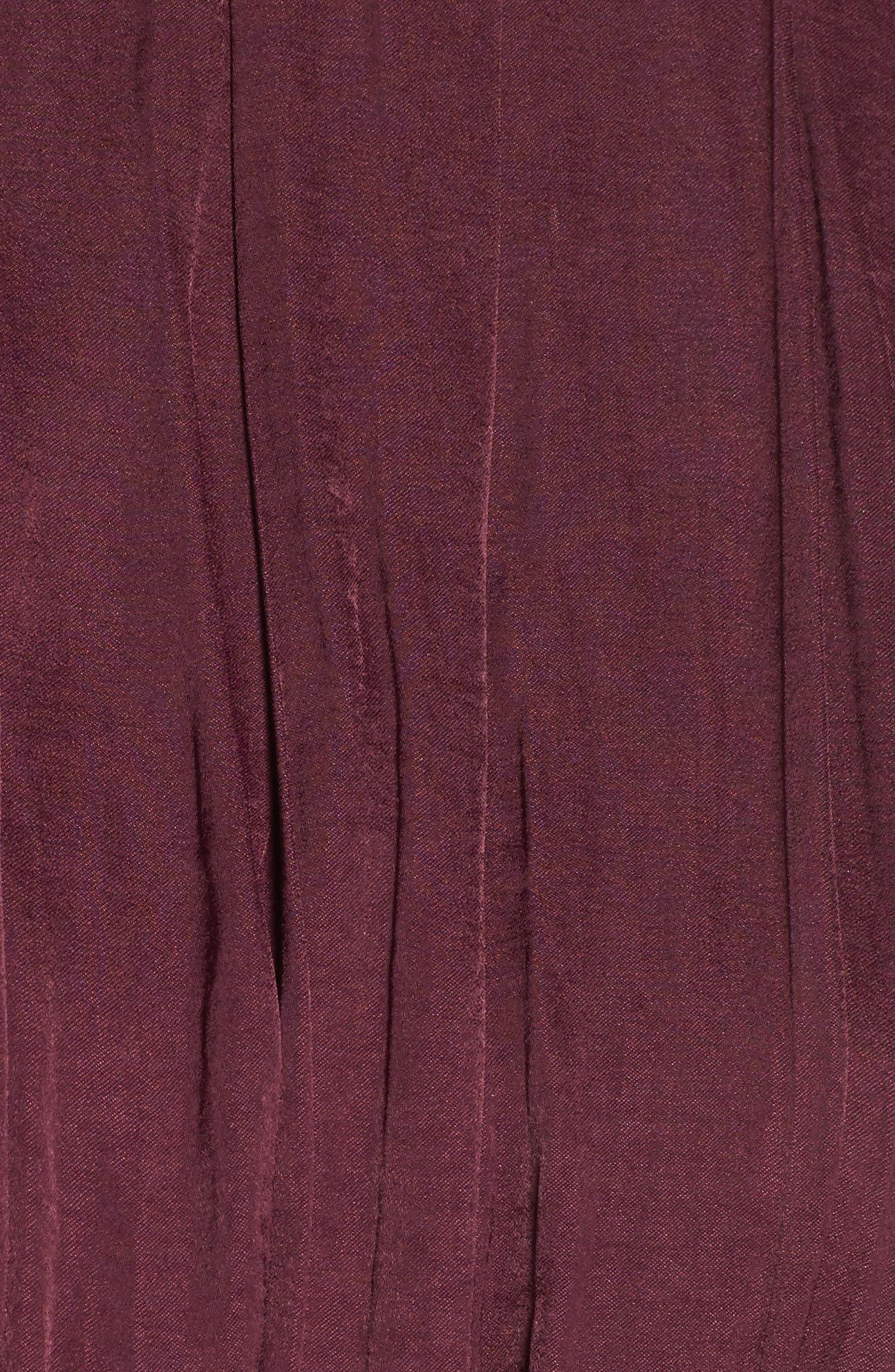 Mena Dress,                             Alternate thumbnail 5, color,                             Grape Wine