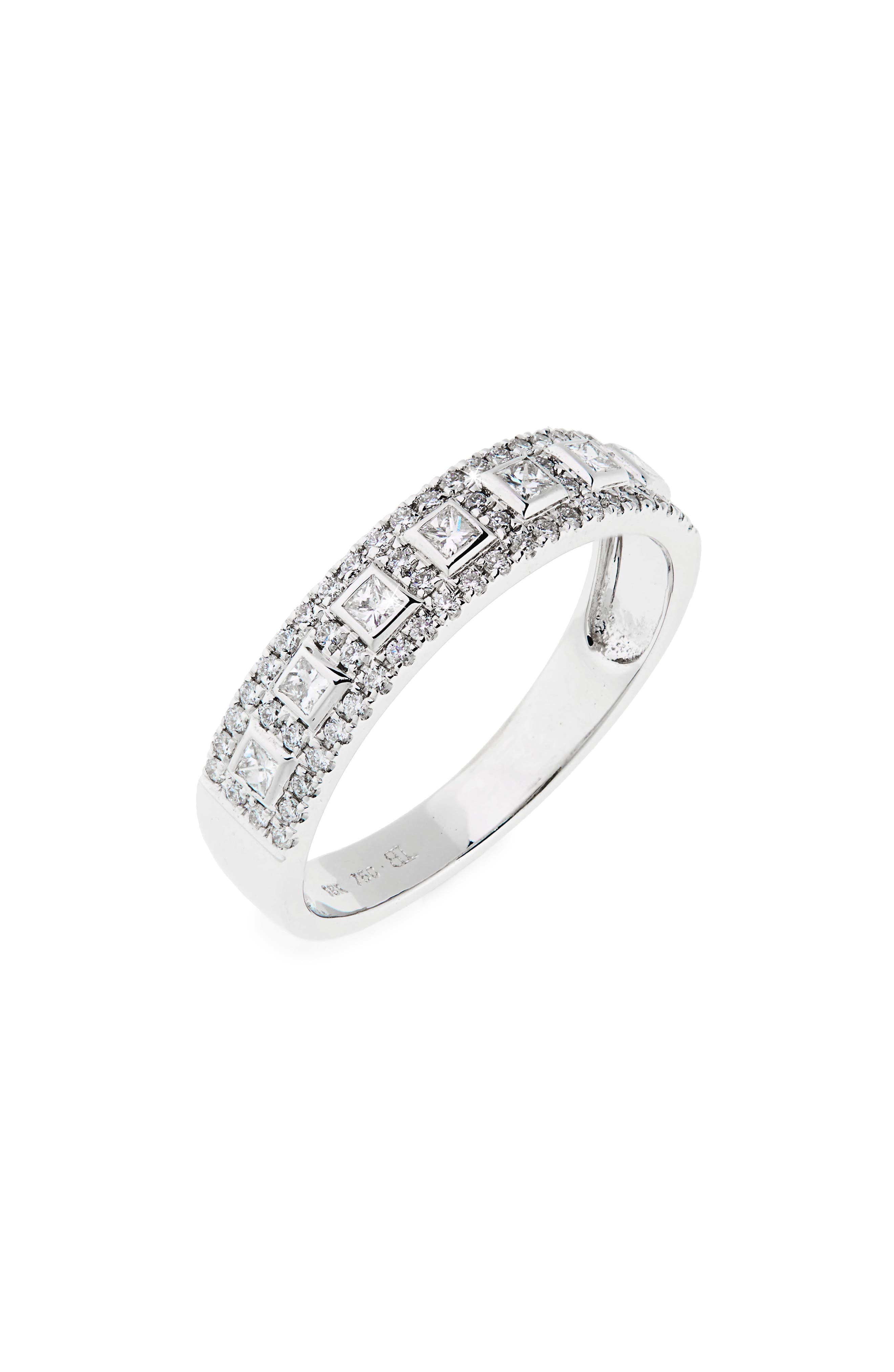 Amara Diamond Band Ring,                             Main thumbnail 1, color,                             White Gold
