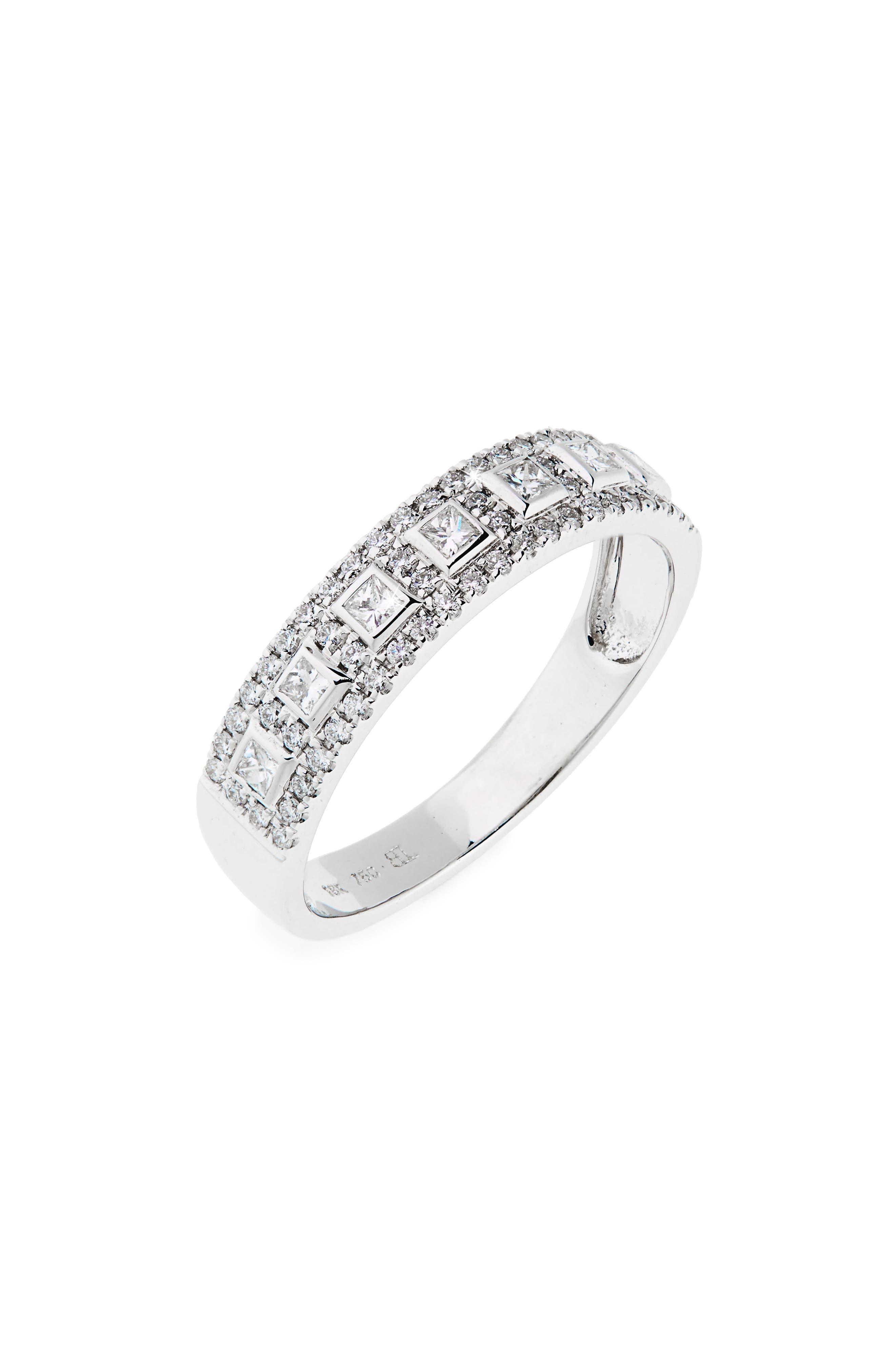 Amara Diamond Band Ring,                         Main,                         color, White Gold