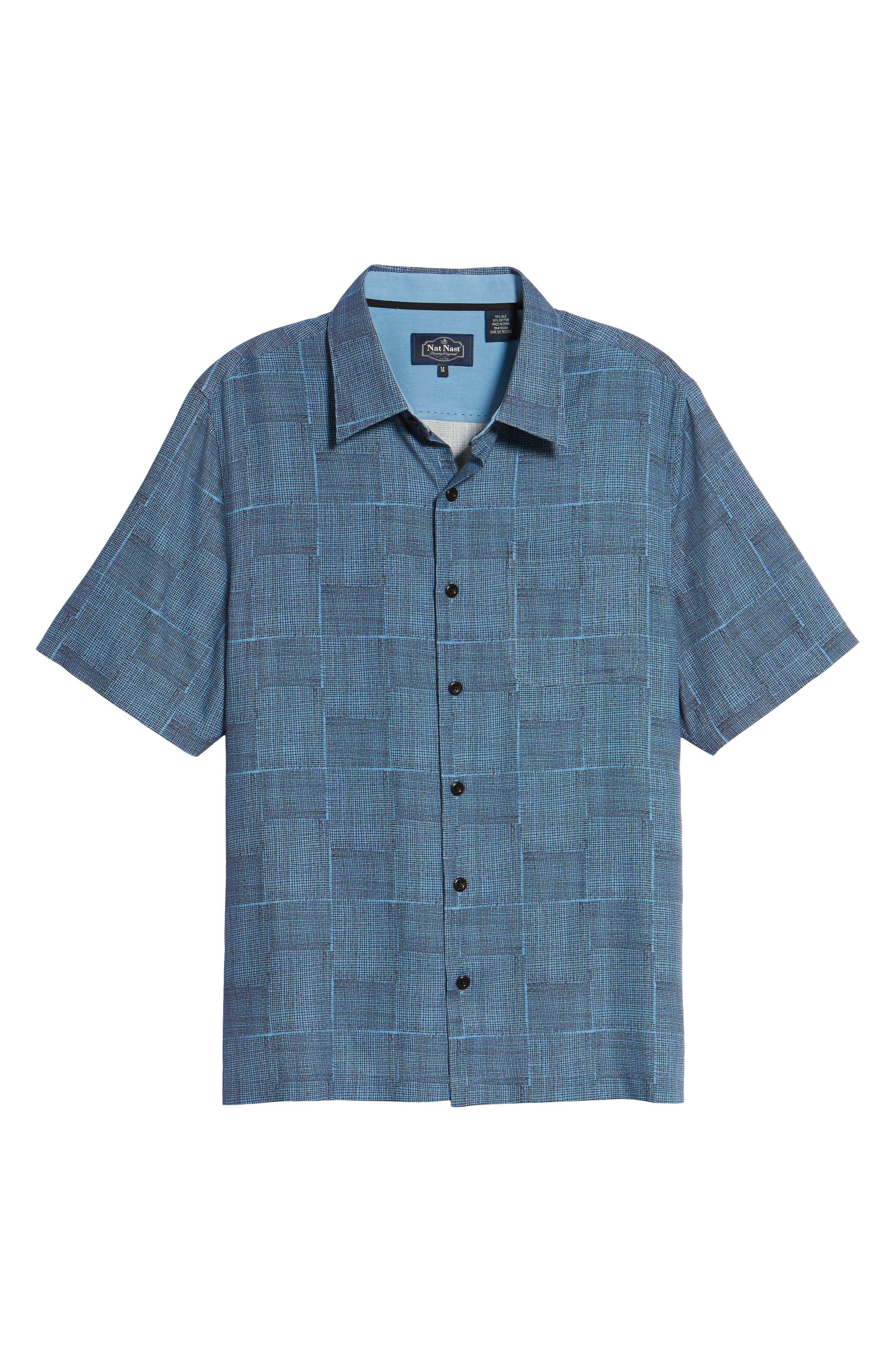 Alternate Image 6  - Nat Nast Alta Classic Fit Silk Blend Camp Shirt
