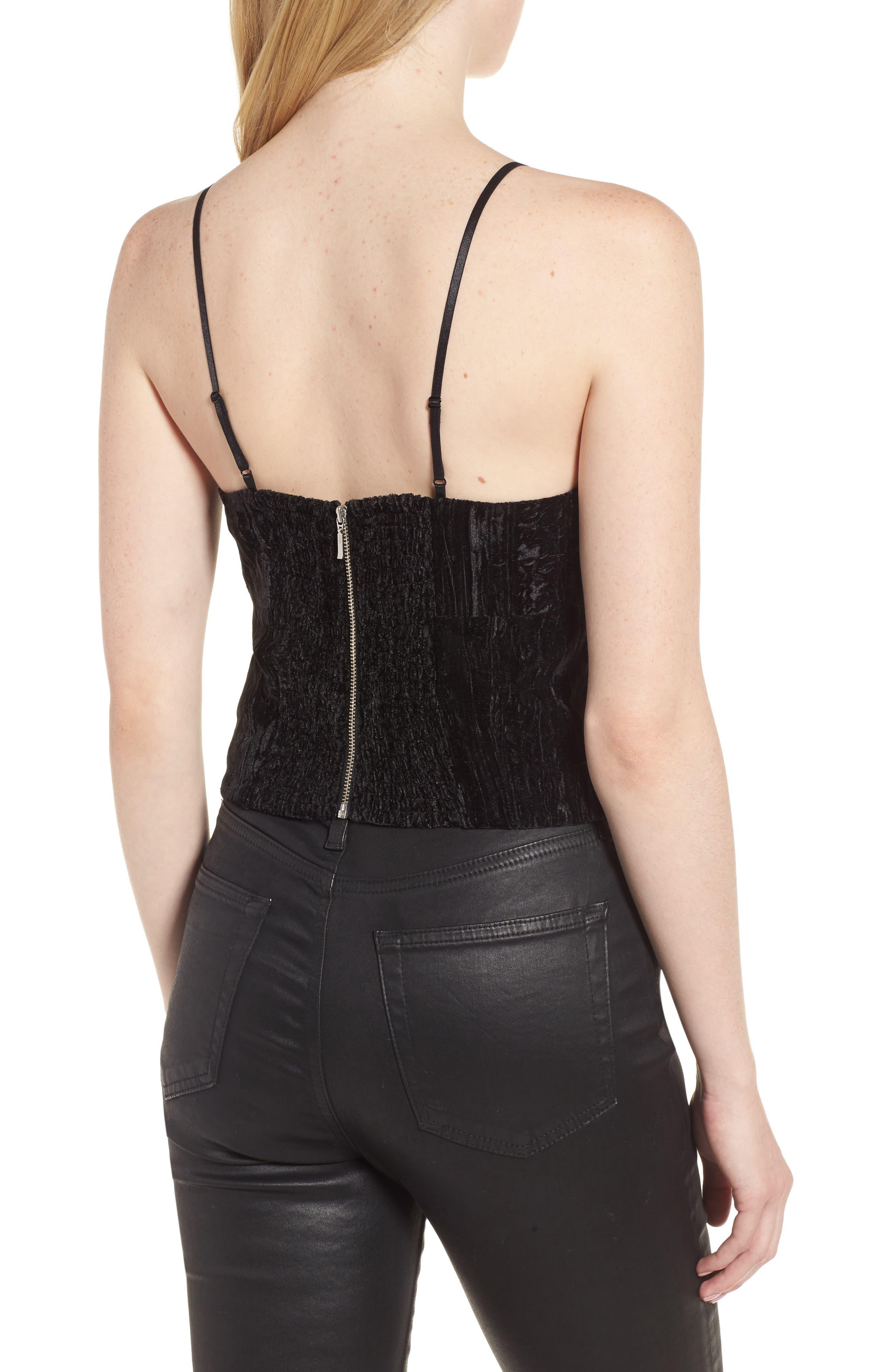 Alternate Image 2  - Trouvé Smocked Velvet Camisole