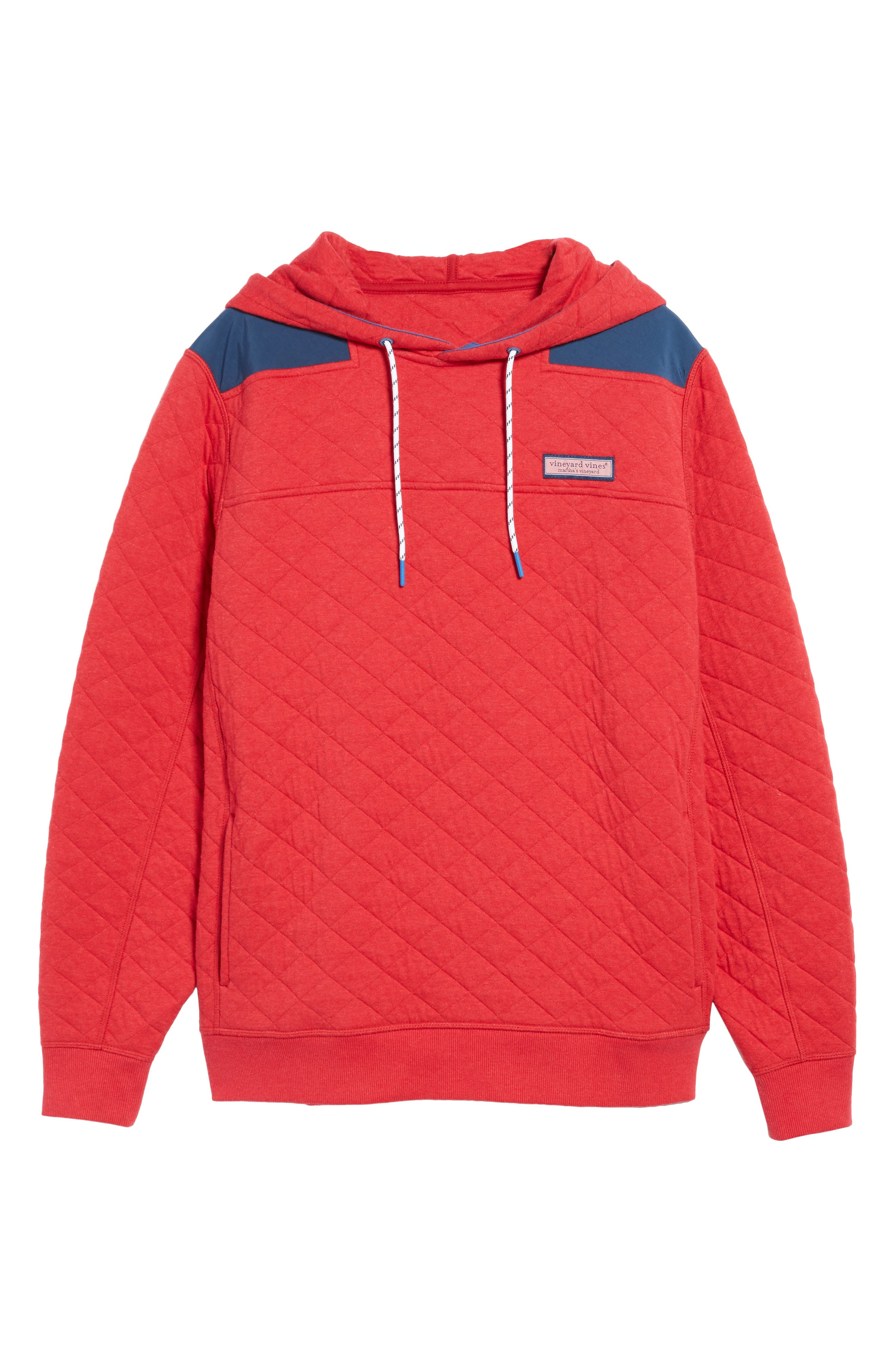Shep Quilted Hoodie,                             Alternate thumbnail 6, color,                             Tomato Check