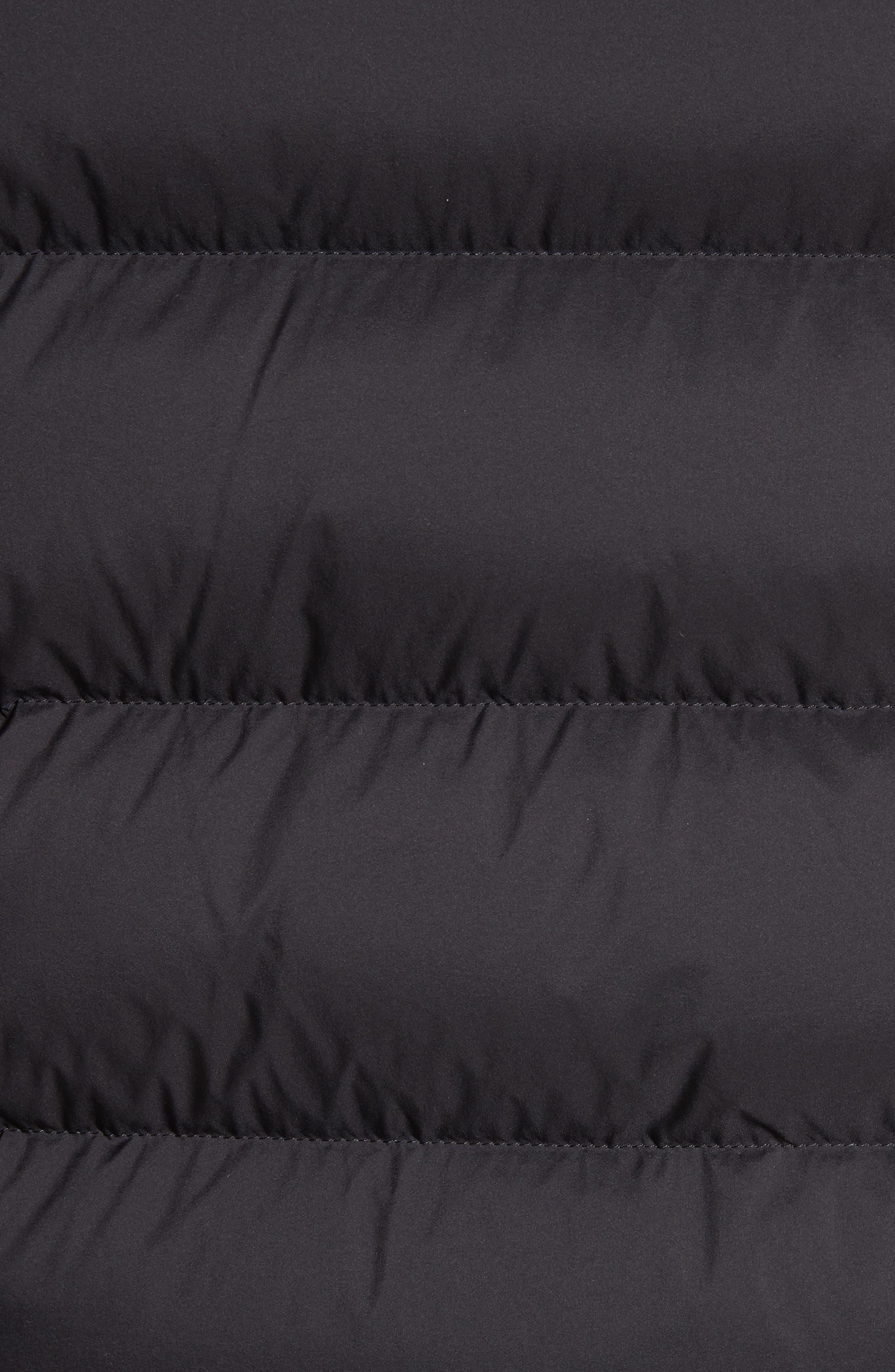 Hartley Convertible Down Jacket,                             Alternate thumbnail 5, color,                             Black