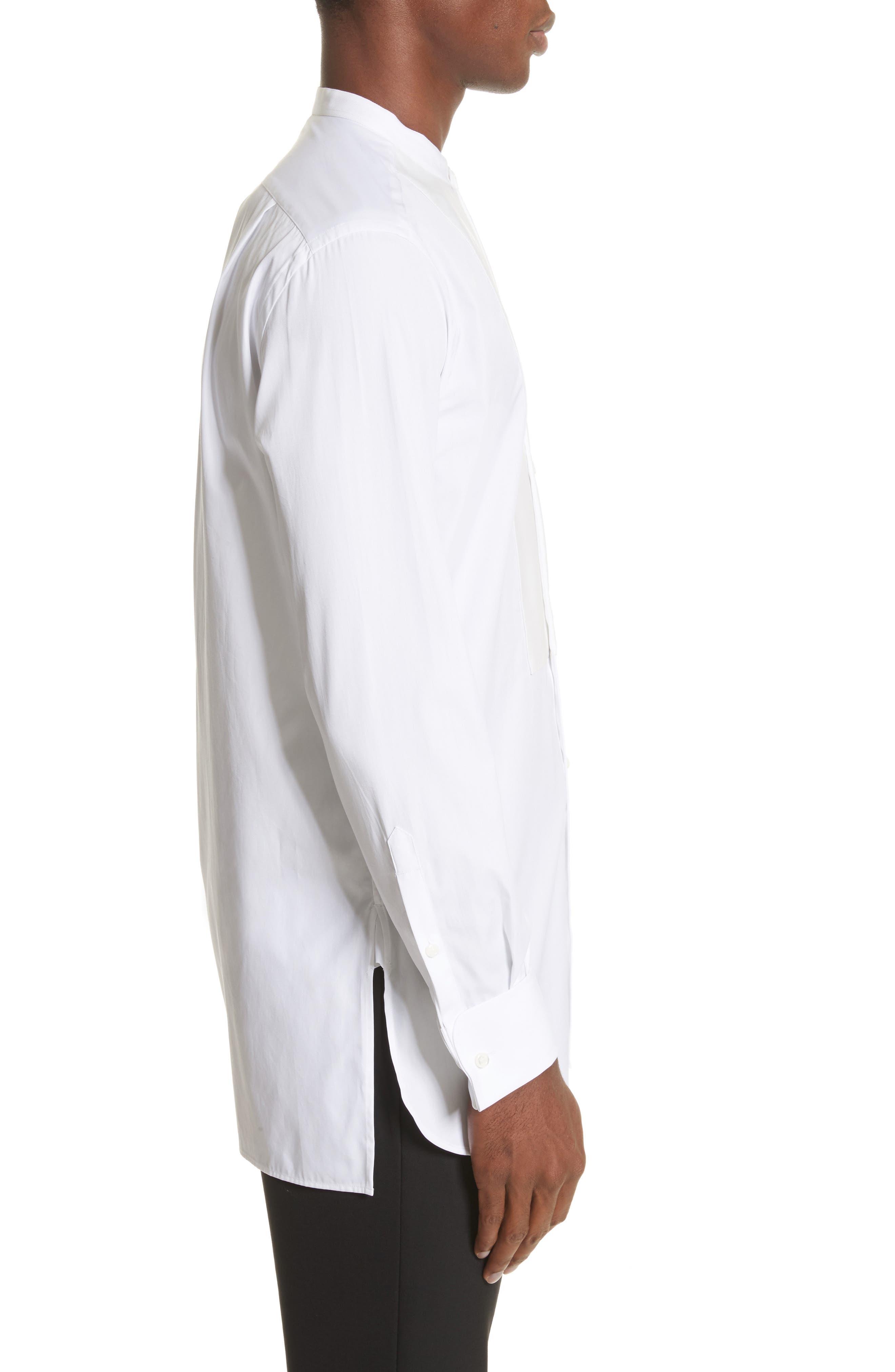 Bib Detail Sport Shirt,                             Alternate thumbnail 3, color,                             White