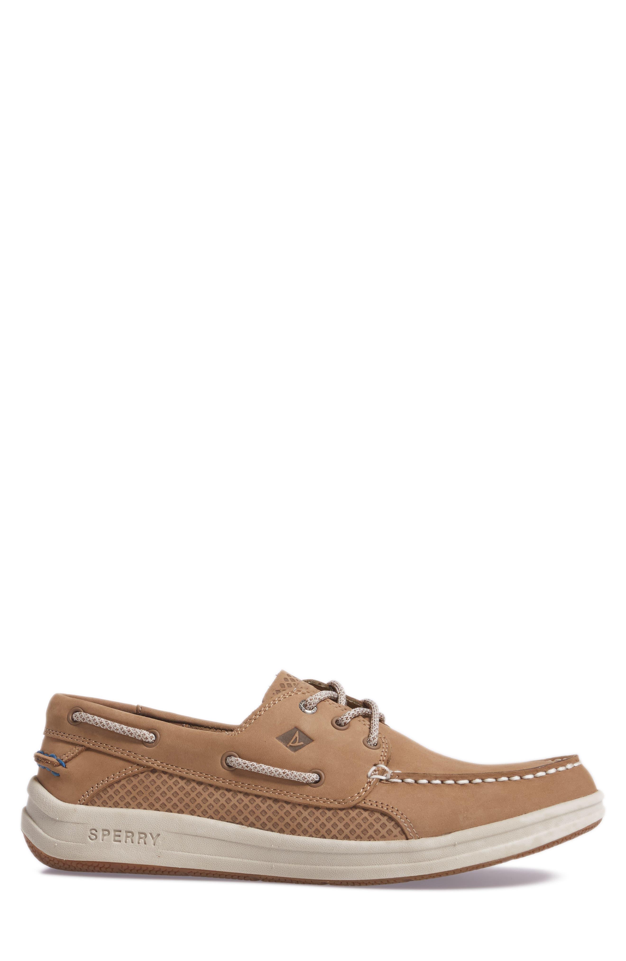 Gamefish Boat Shoe,                             Alternate thumbnail 3, color,                             Linen Leather