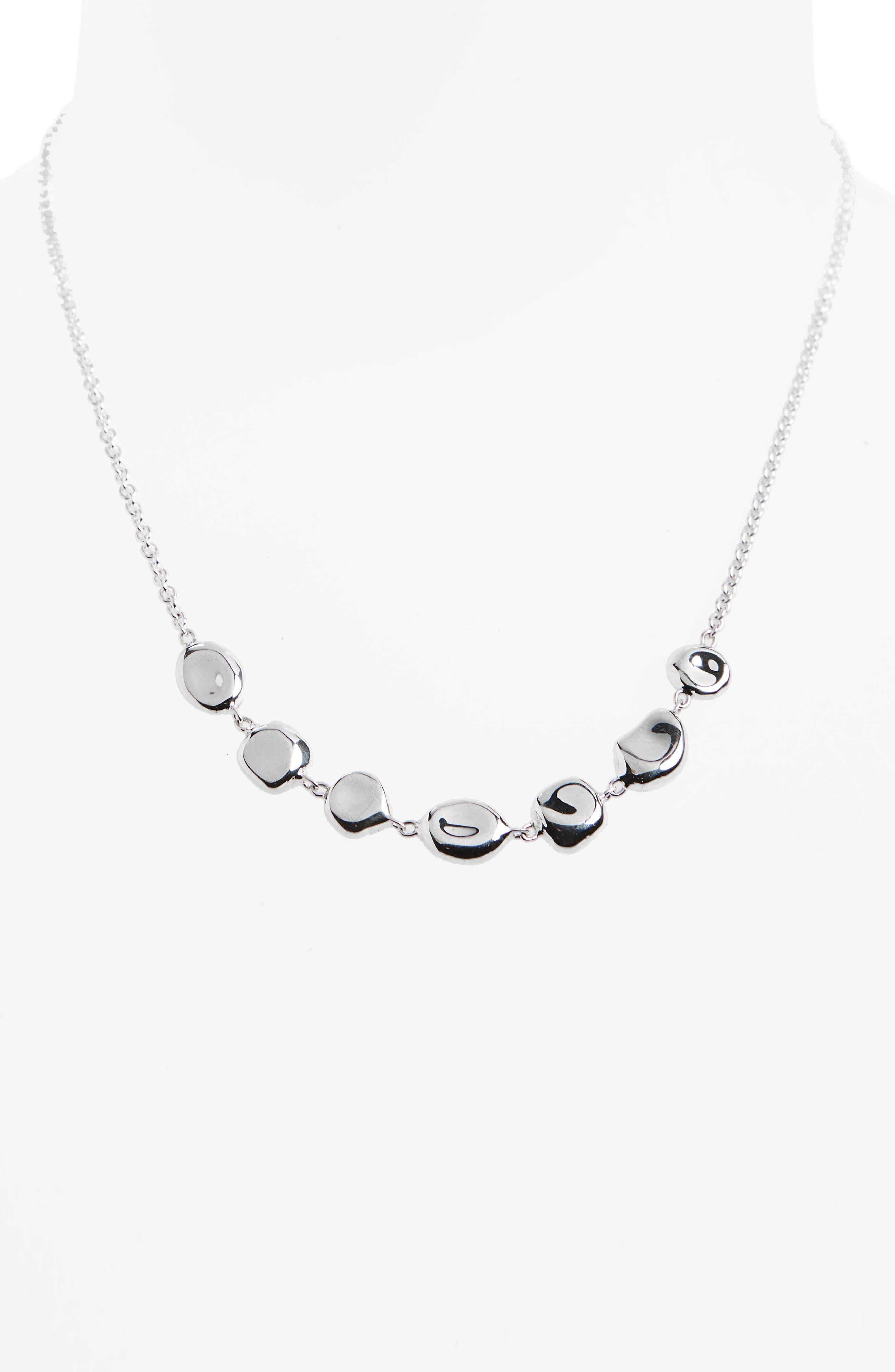 Onda Collar Necklace,                             Main thumbnail 1, color,                             Silver