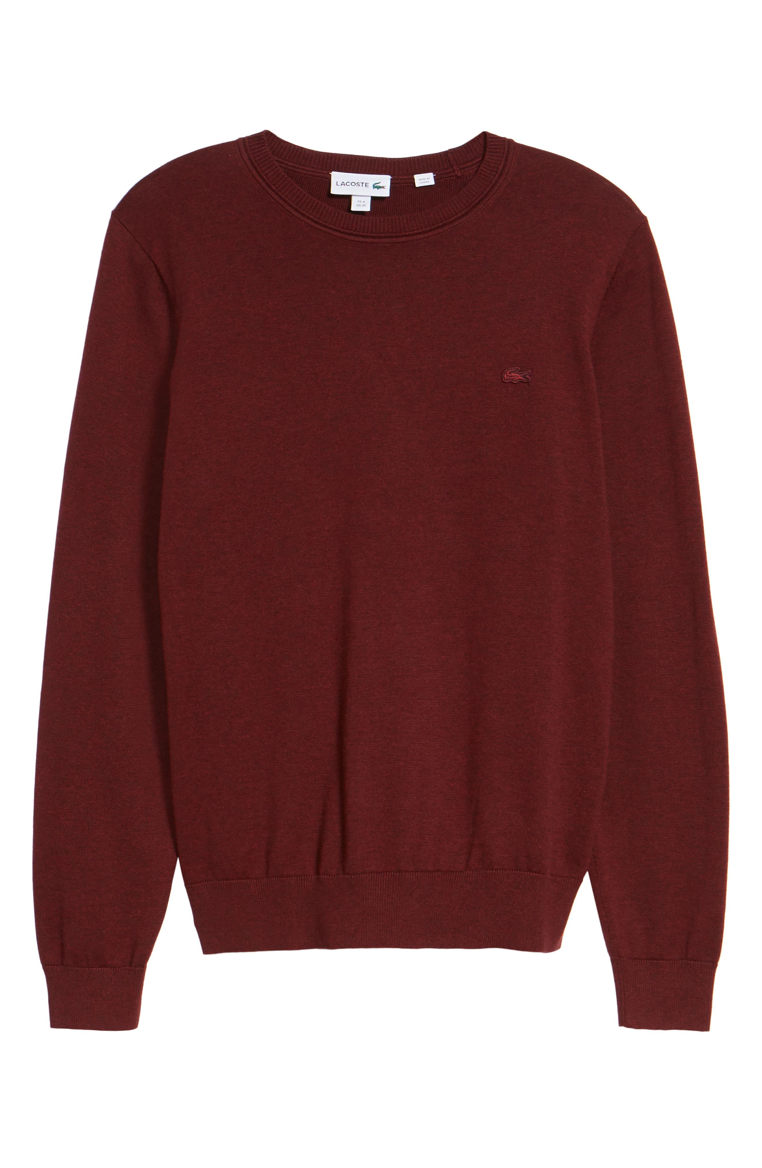 Alternate Image 6  - Lacoste Jersey Knit Crewneck Sweater