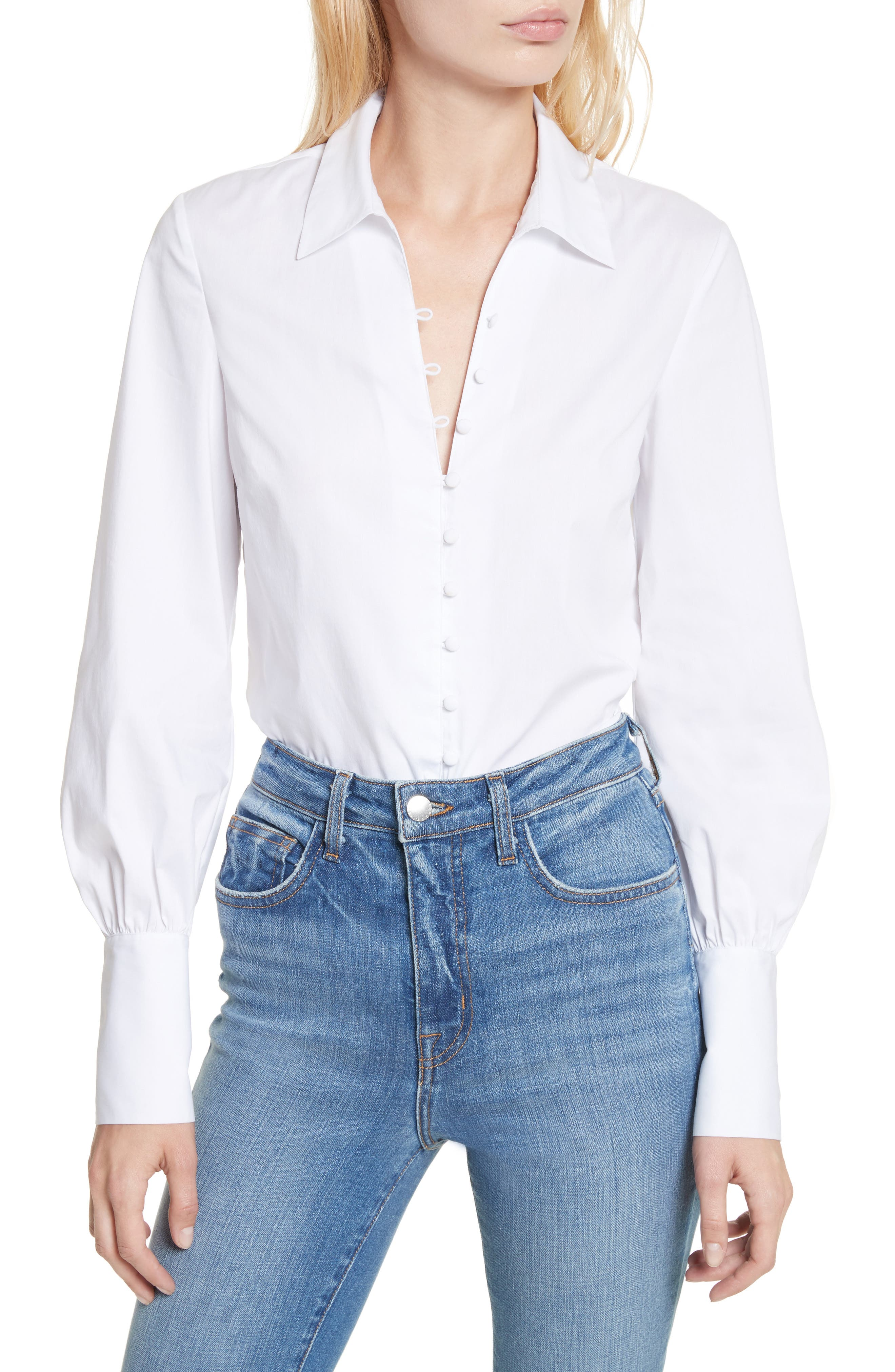 Alternate Image 1 Selected - L'AGENCE Puff Sleeve Shirt