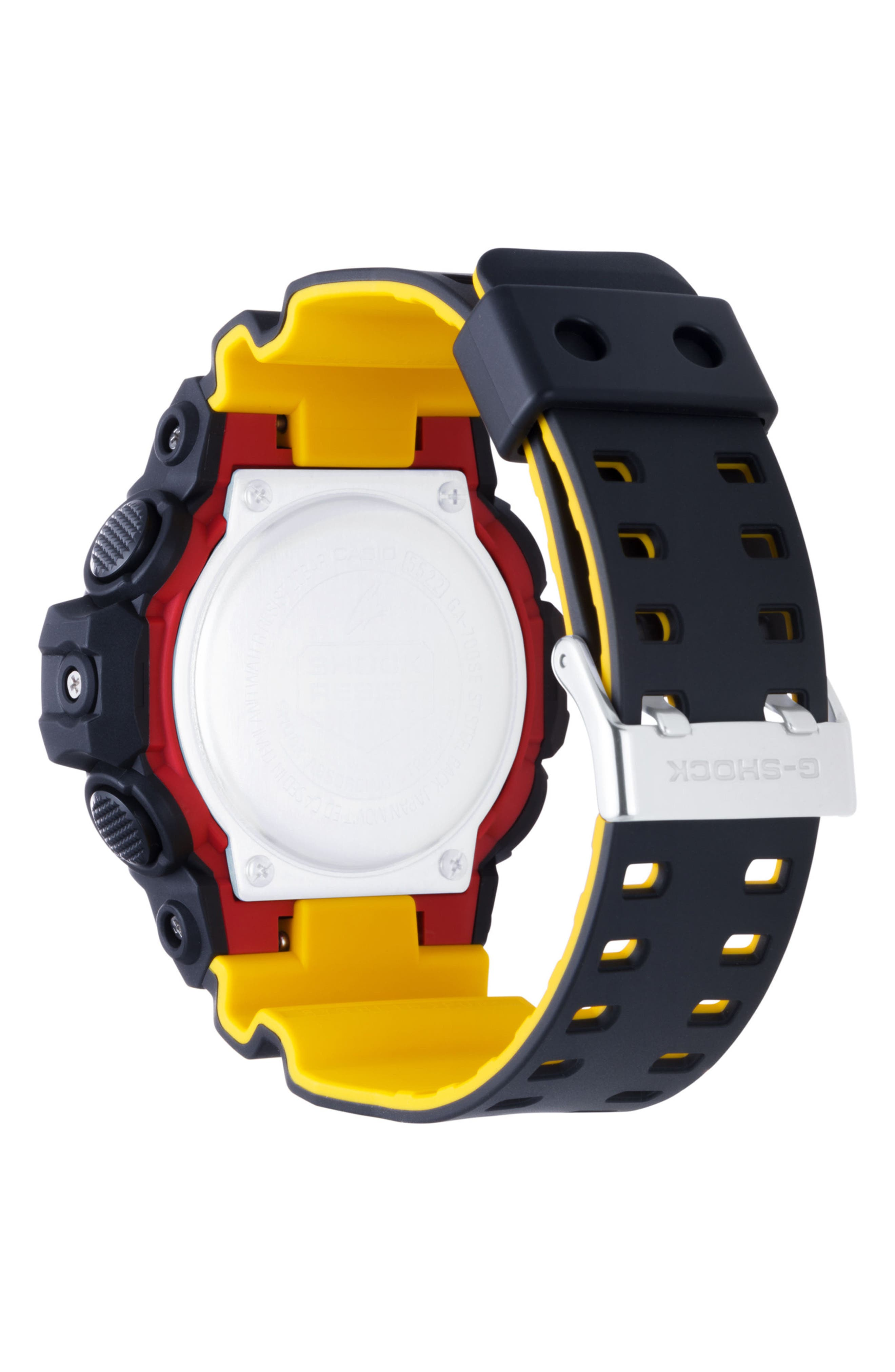 Military Ana-Digi Watch, 53mm,                             Alternate thumbnail 2, color,                             Black/ Yellow