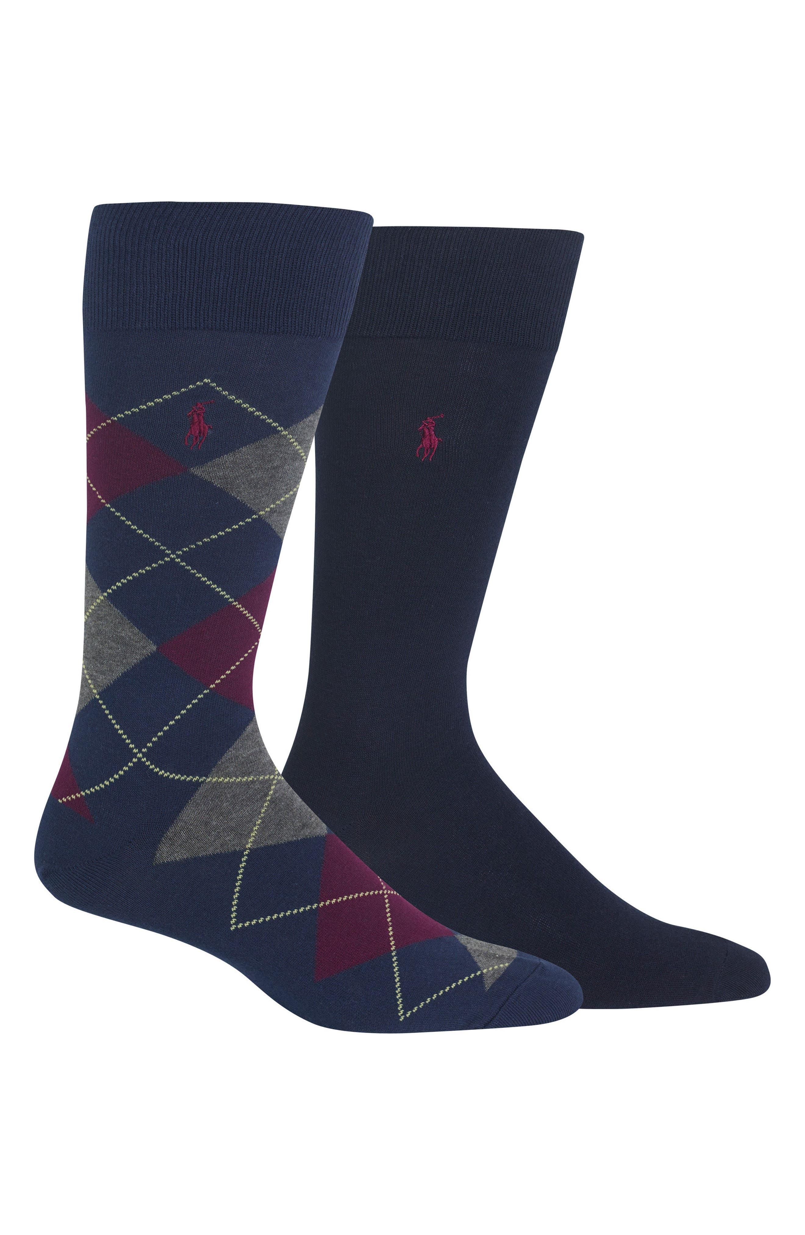 Main Image - Polo Ralph Lauren Cotton Blend Socks (2-Pack)