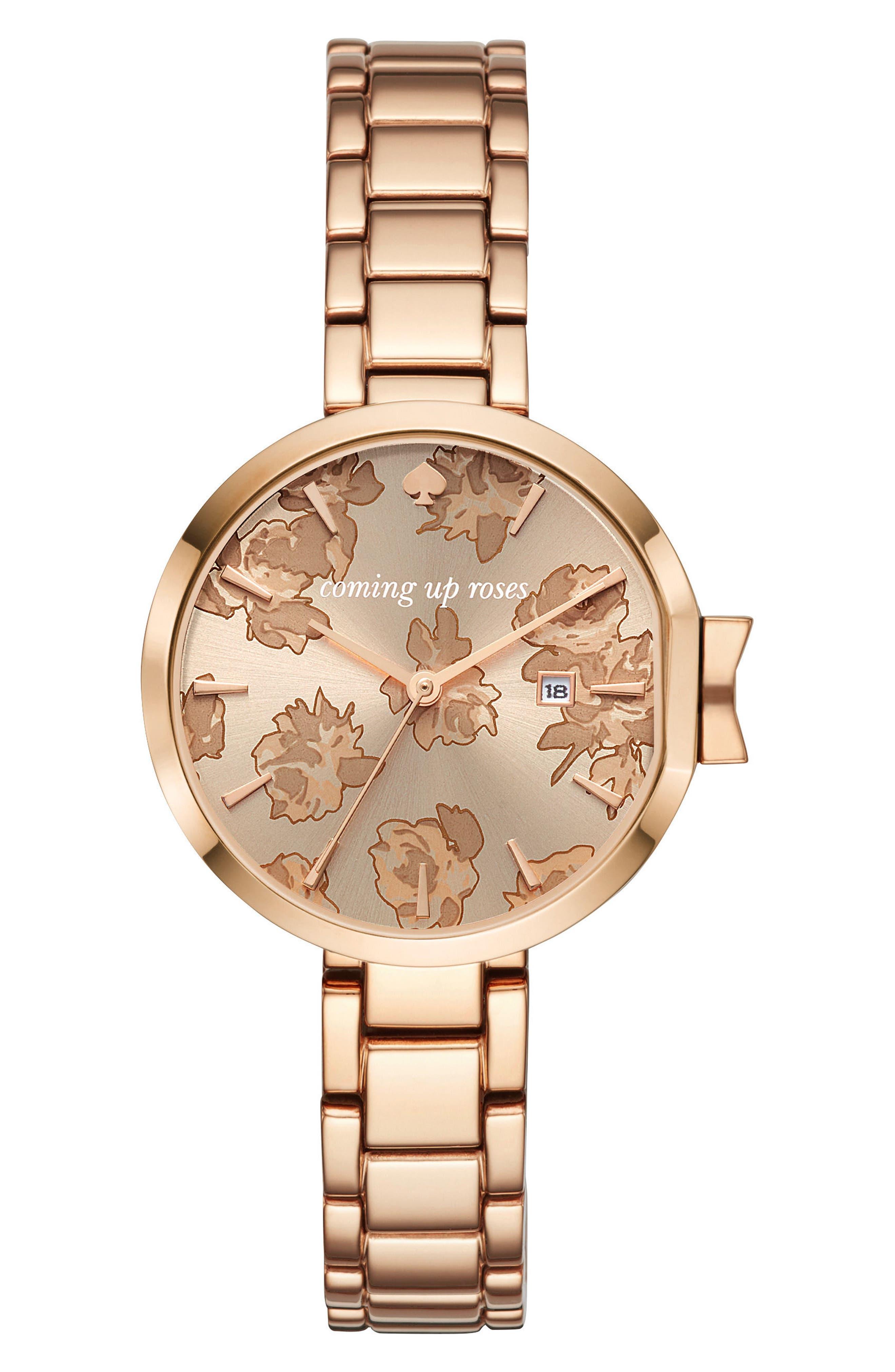 park row bracelet watch, 34mm,                         Main,                         color, Rose Gold
