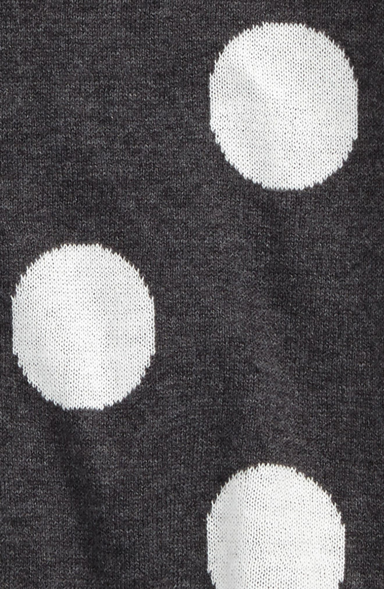 Polka Dot Sweater Dress,                             Alternate thumbnail 2, color,                             Grey Charcoal Heather Dot