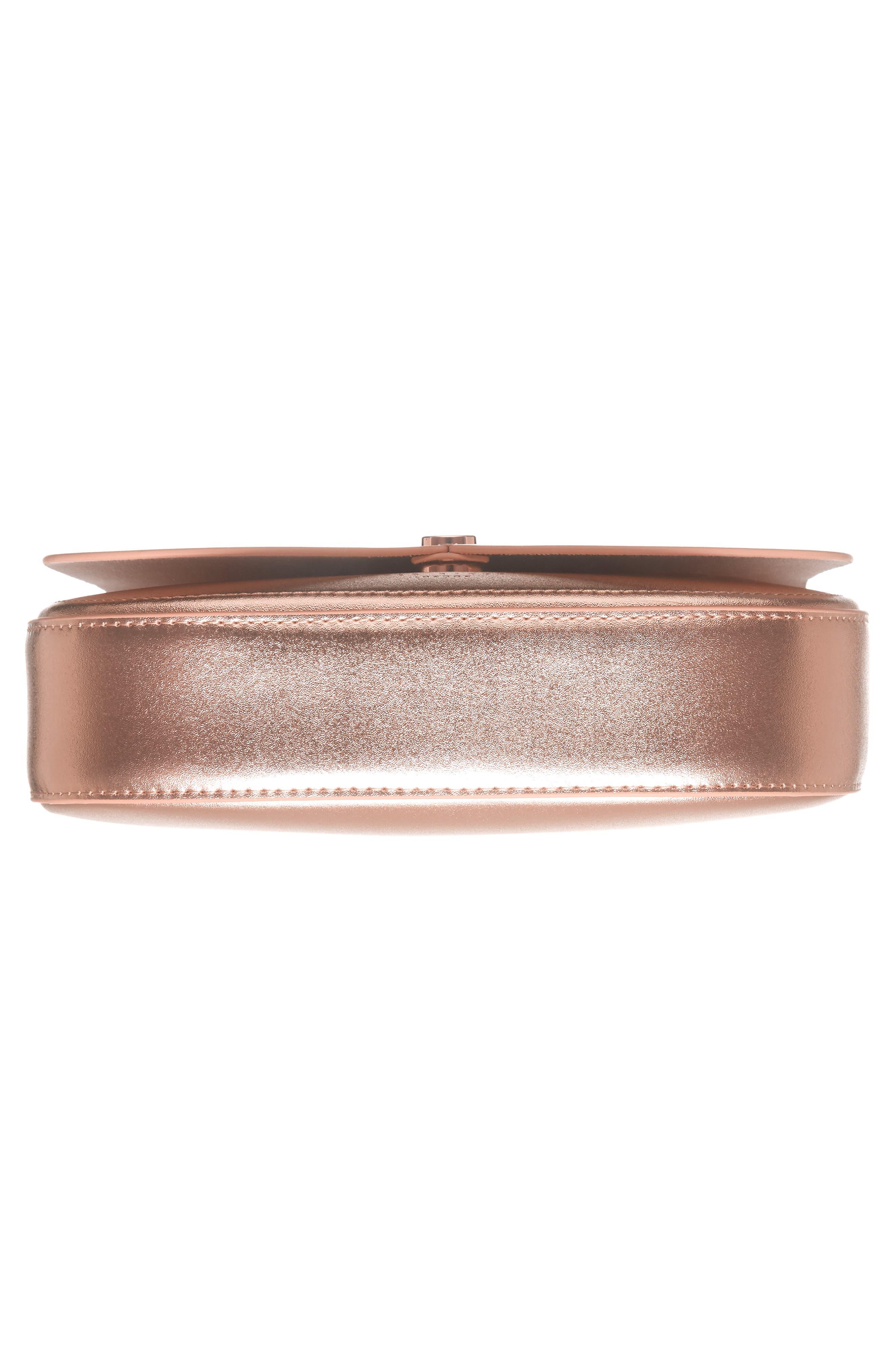 Kittii Cat Leather Crossbody Bag,                             Alternate thumbnail 5, color,                             Rose Gold