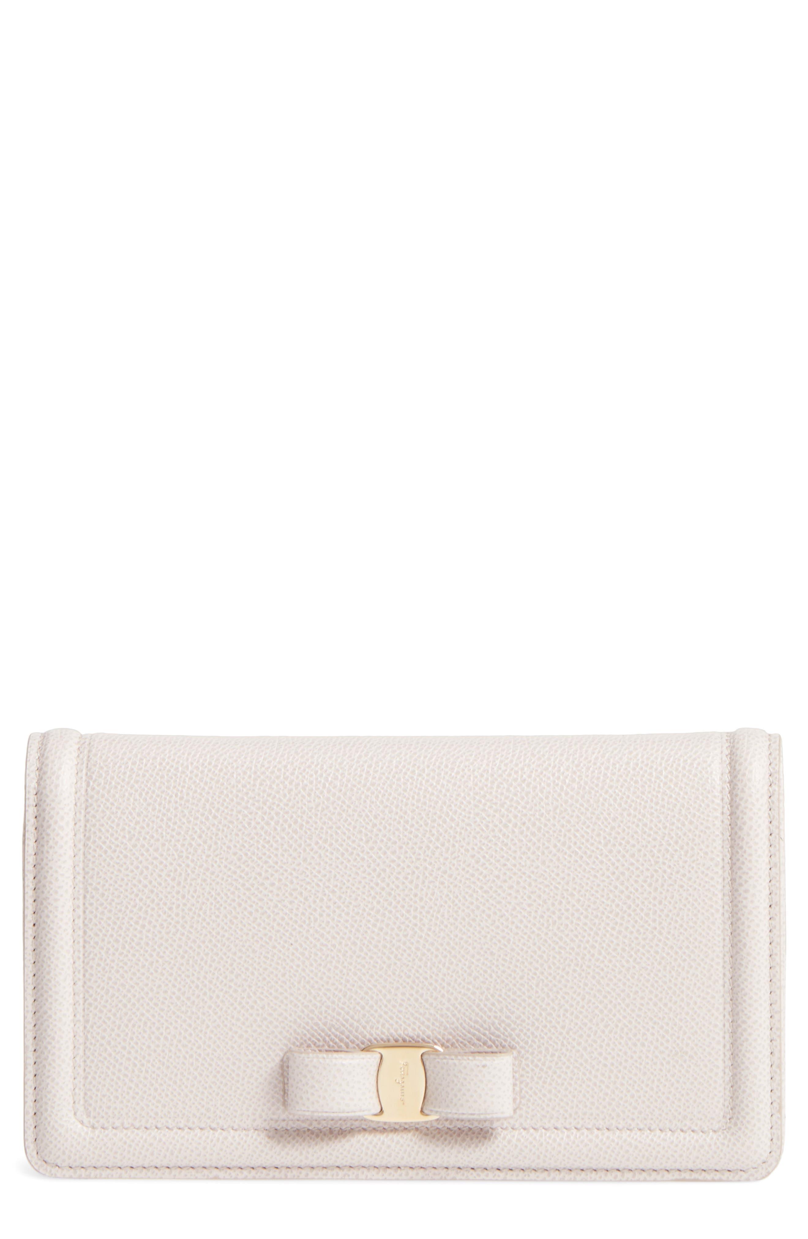 Salvatore Ferragamo Vara Leather Wallet on a Chain