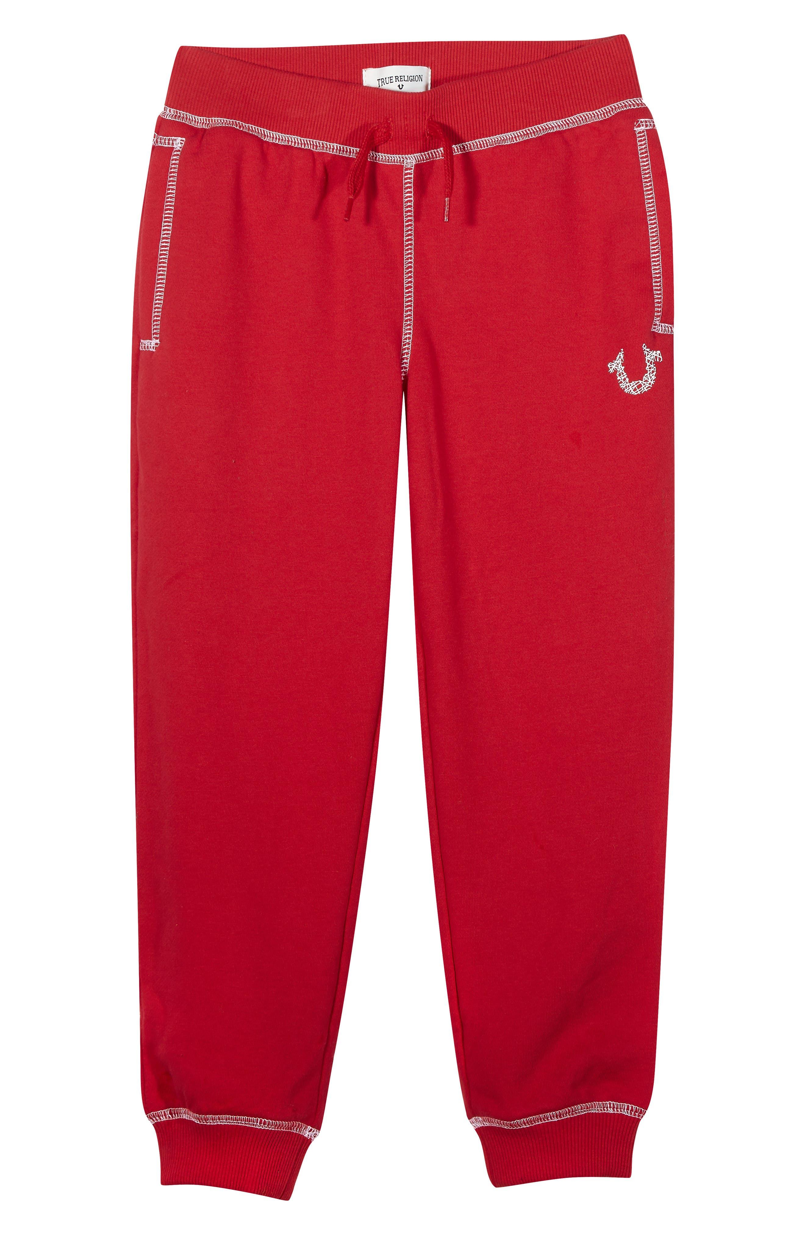 Shoestring Sweatpants,                             Main thumbnail 1, color,                             Bright Red